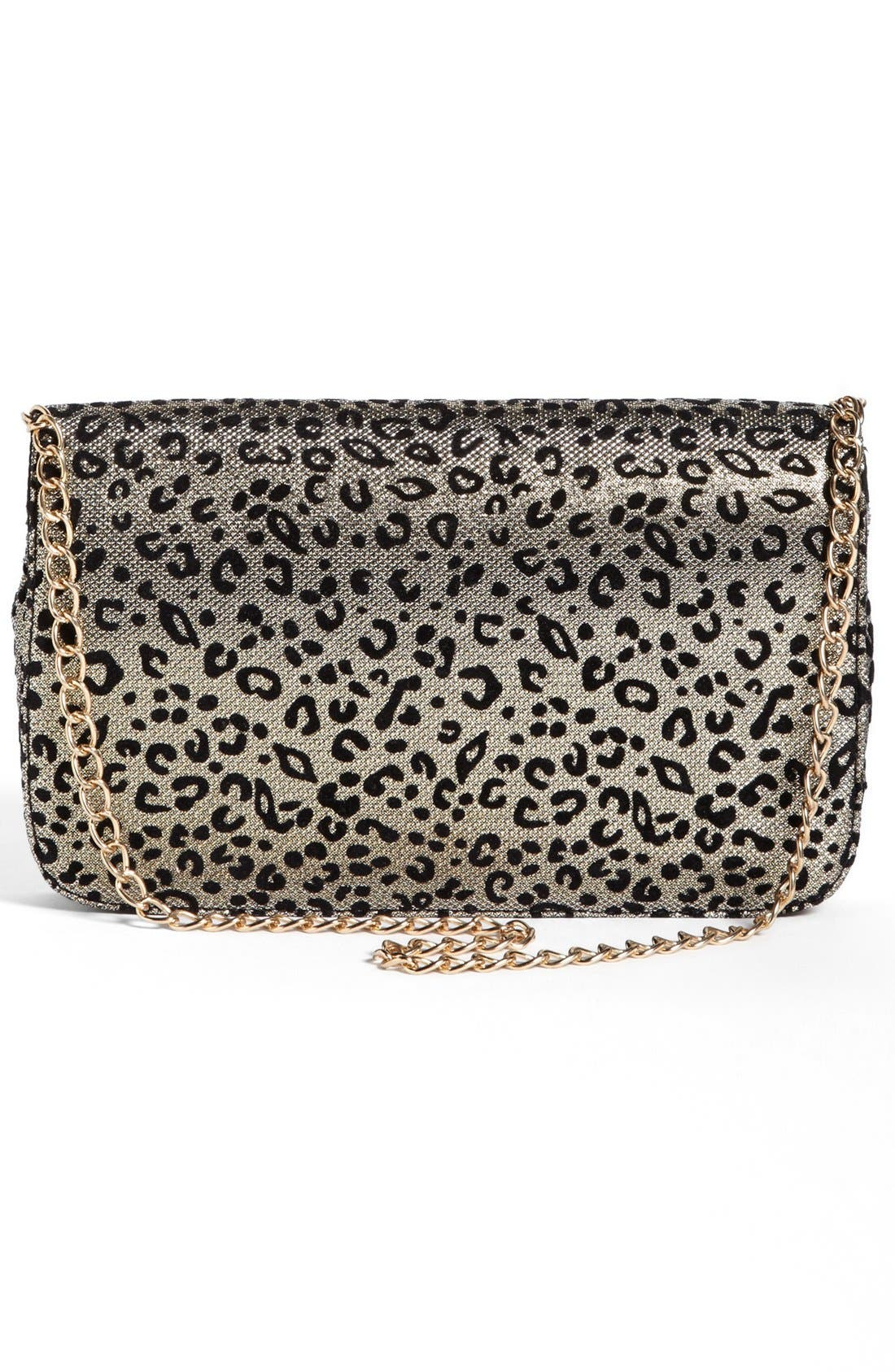 Alternate Image 4  - Cesca Leopard Print Clutch (Juniors) (Online Only)