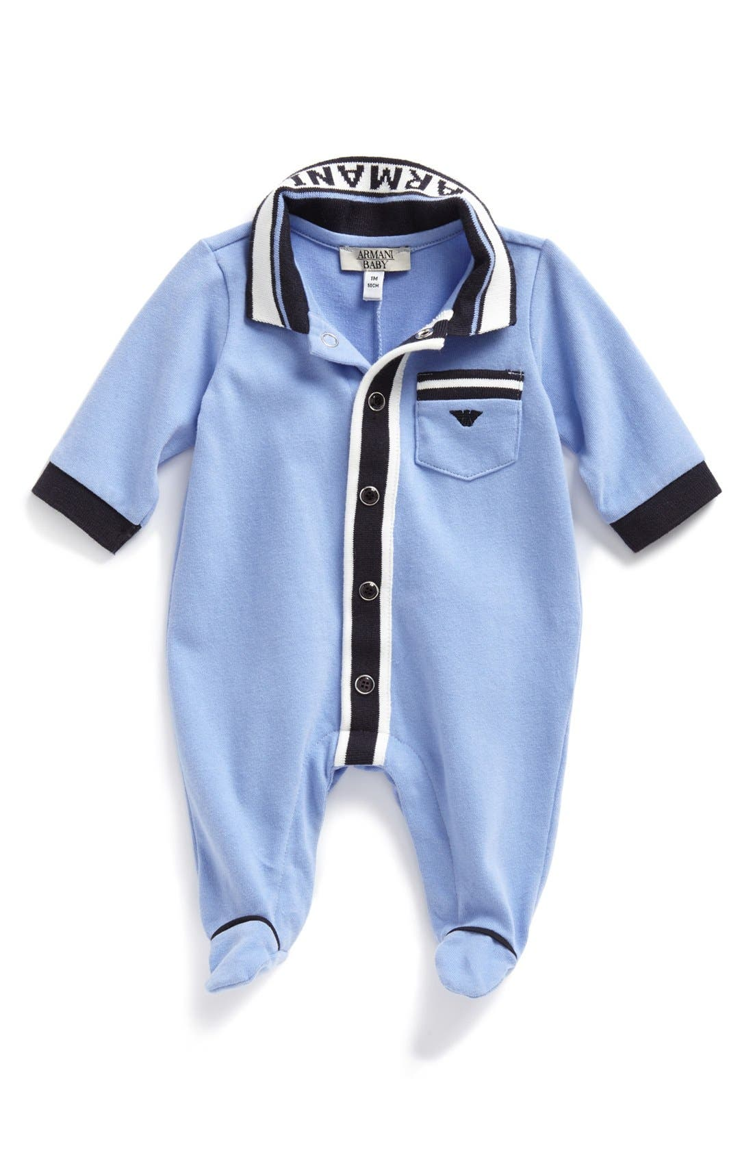 Alternate Image 1 Selected - Armani Junior Footie (Baby Boys)