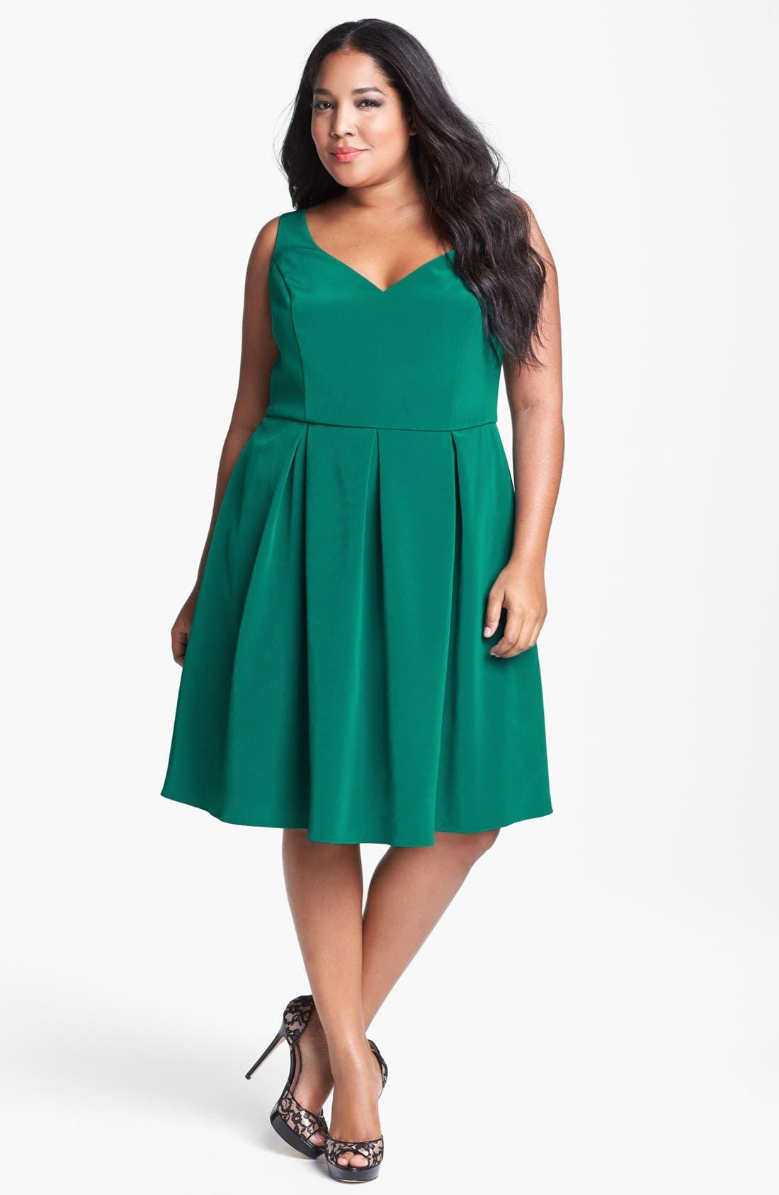 Alternate Image 1 Selected - ABS Luxury Collection Fit & Flare Dress (Plus Size)