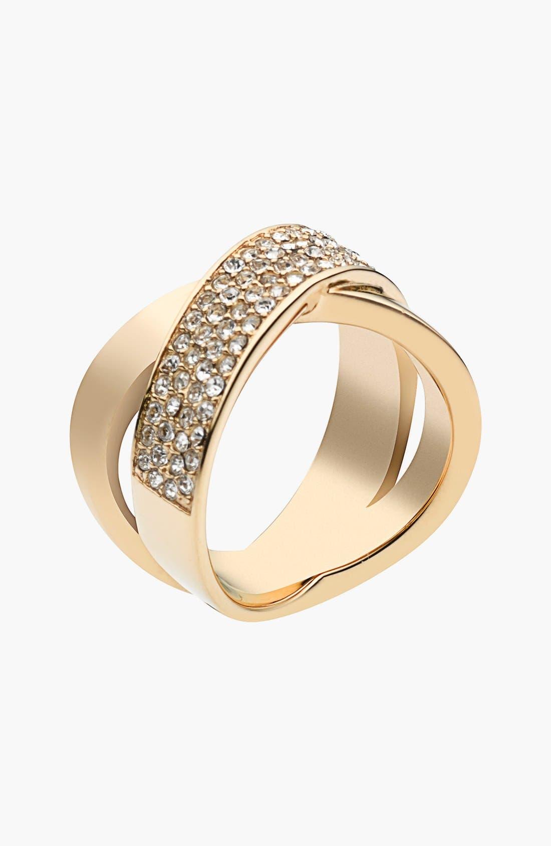 Alternate Image 1 Selected - Michael Kors 'Brilliance' Crisscross Ring