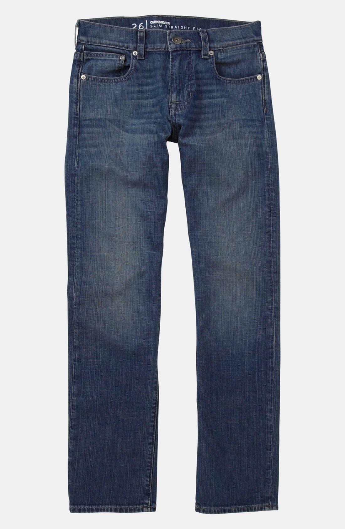Alternate Image 2  - Quiksilver 'Distortion' Straight Leg Jeans (Little Boys)