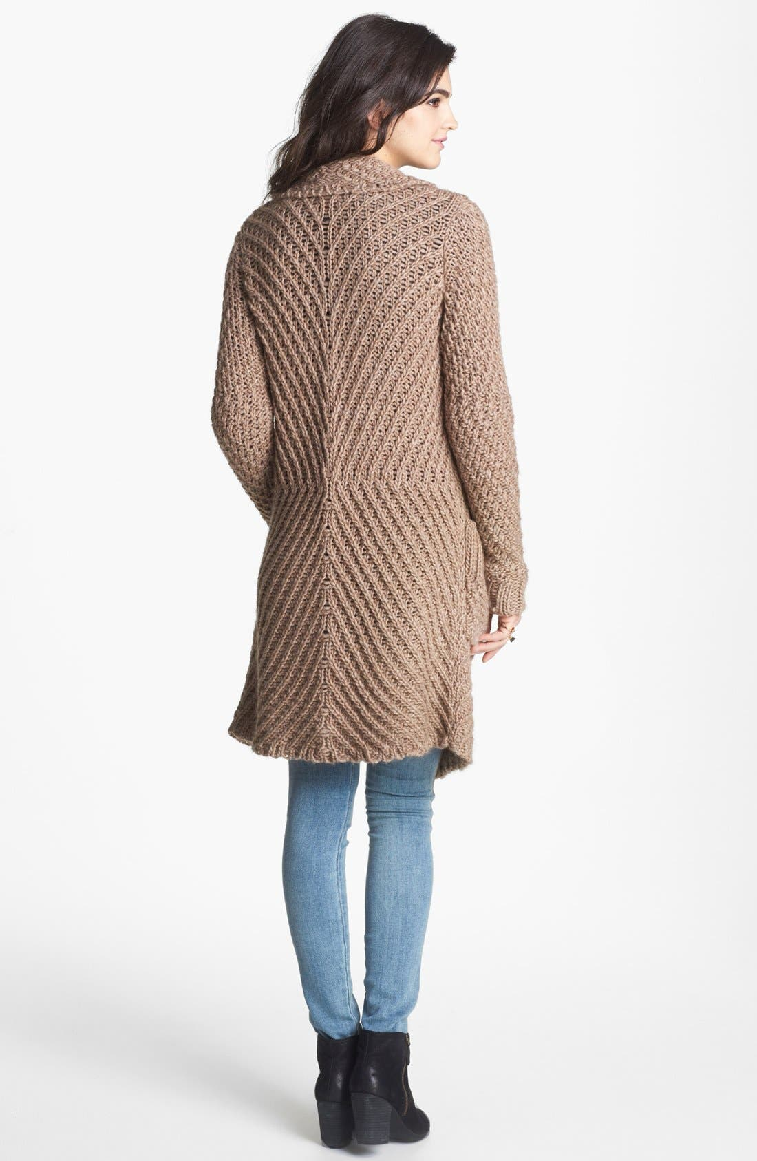 Alternate Image 2  - Free People 'Buttermilk Biscuit' Textured Knit Cardigan