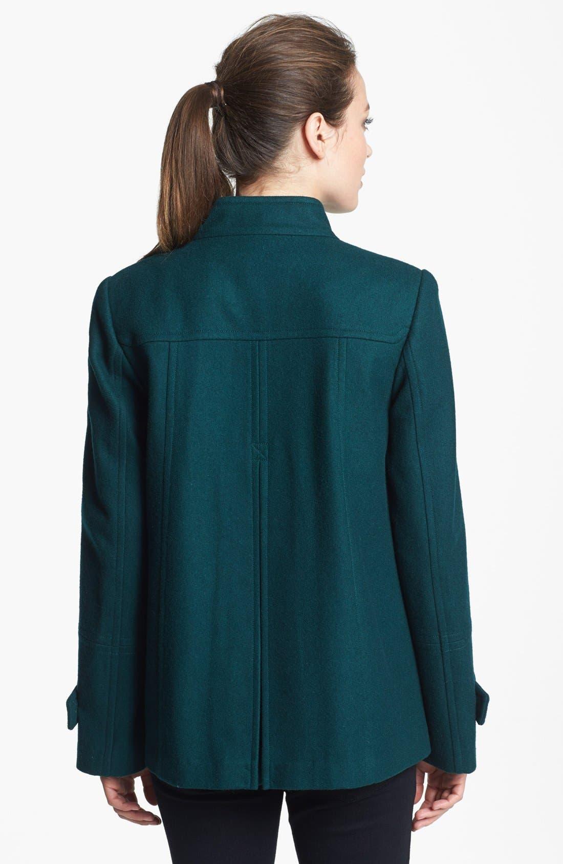 Alternate Image 2  - Gallery Double Breasted Wool Blend Jacket (Petite)