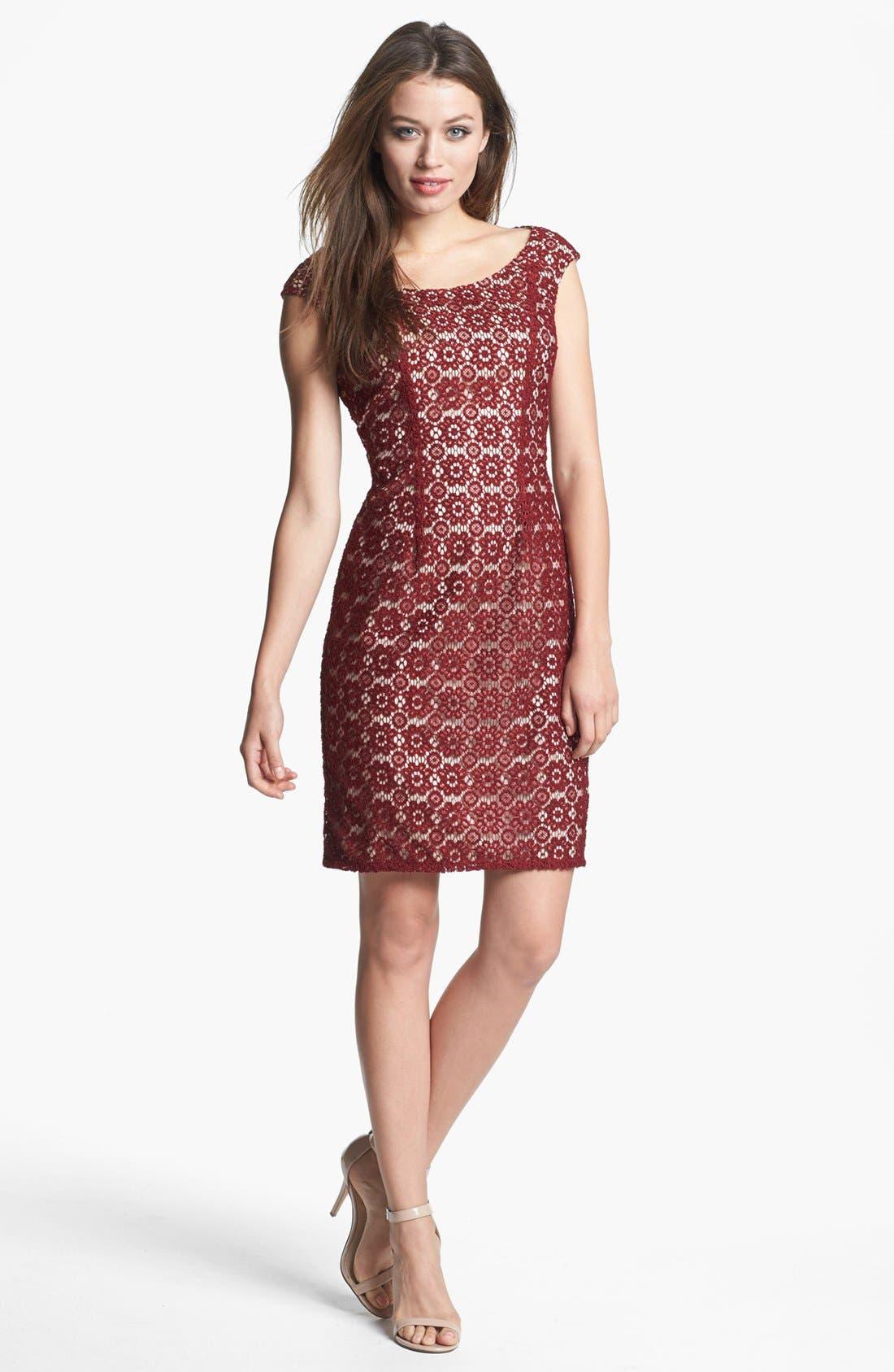 Main Image - Adrianna Papell Lace Shift Dress
