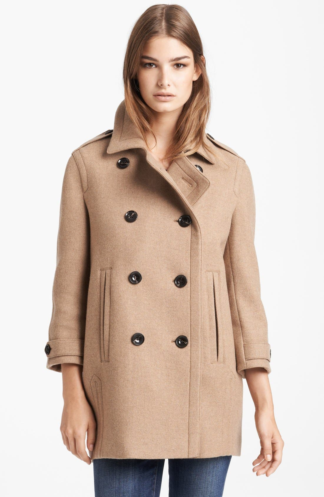 Alternate Image 1 Selected - Burberry Brit 'Busby' Double Breasted Coat