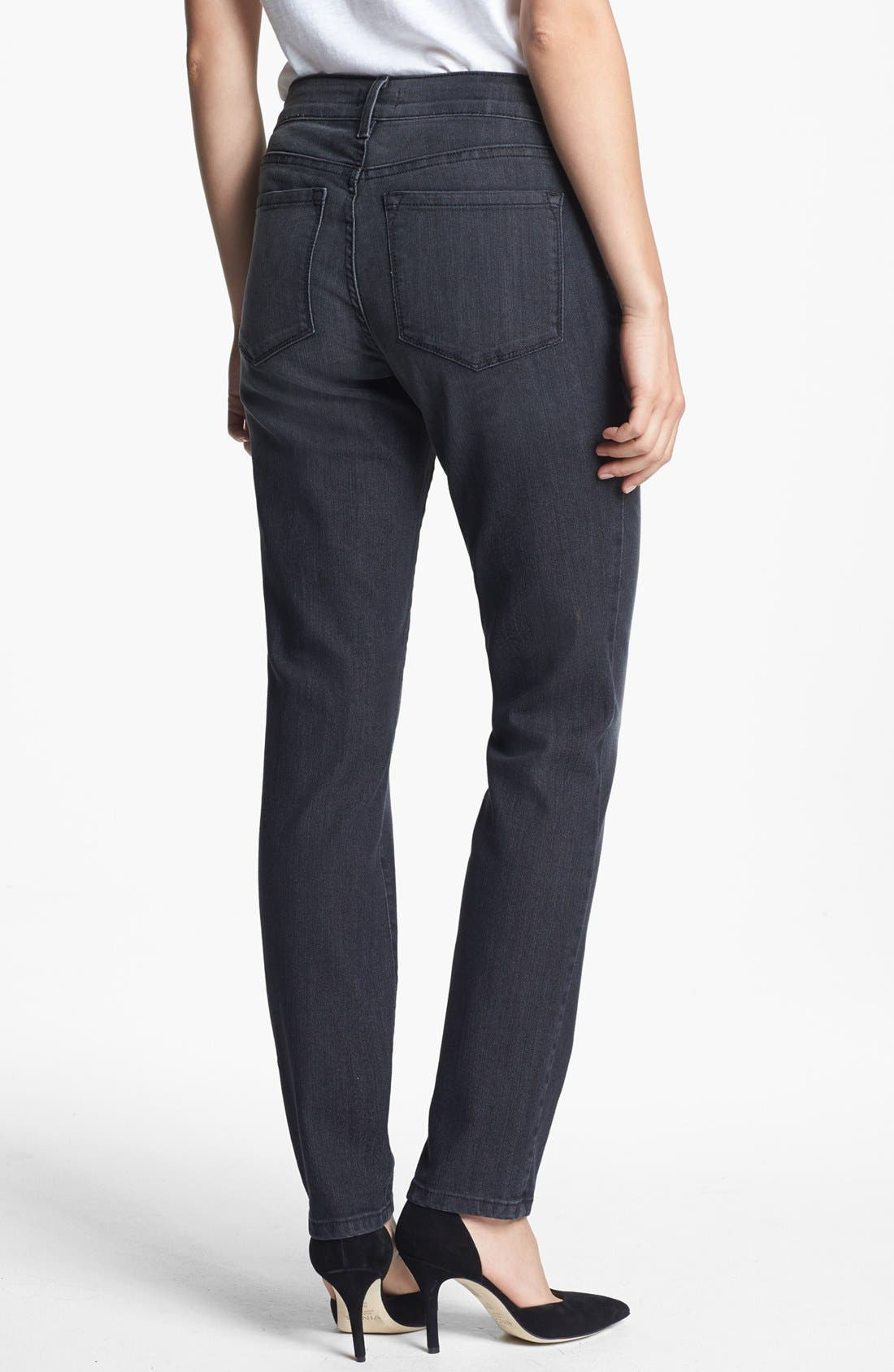 Alternate Image 2  - NYDJ 'Alina' Stretch Skinny Jeans (Stoney River) (Regular & Petite)