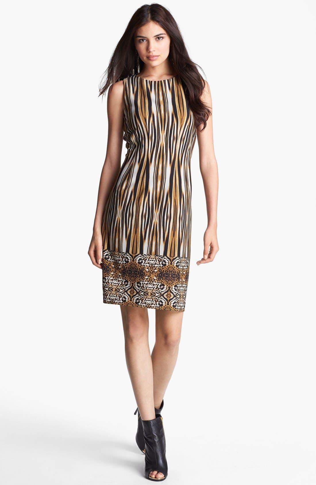 Main Image - Ivanka Trump Print Ponte Knit Sheath Dress