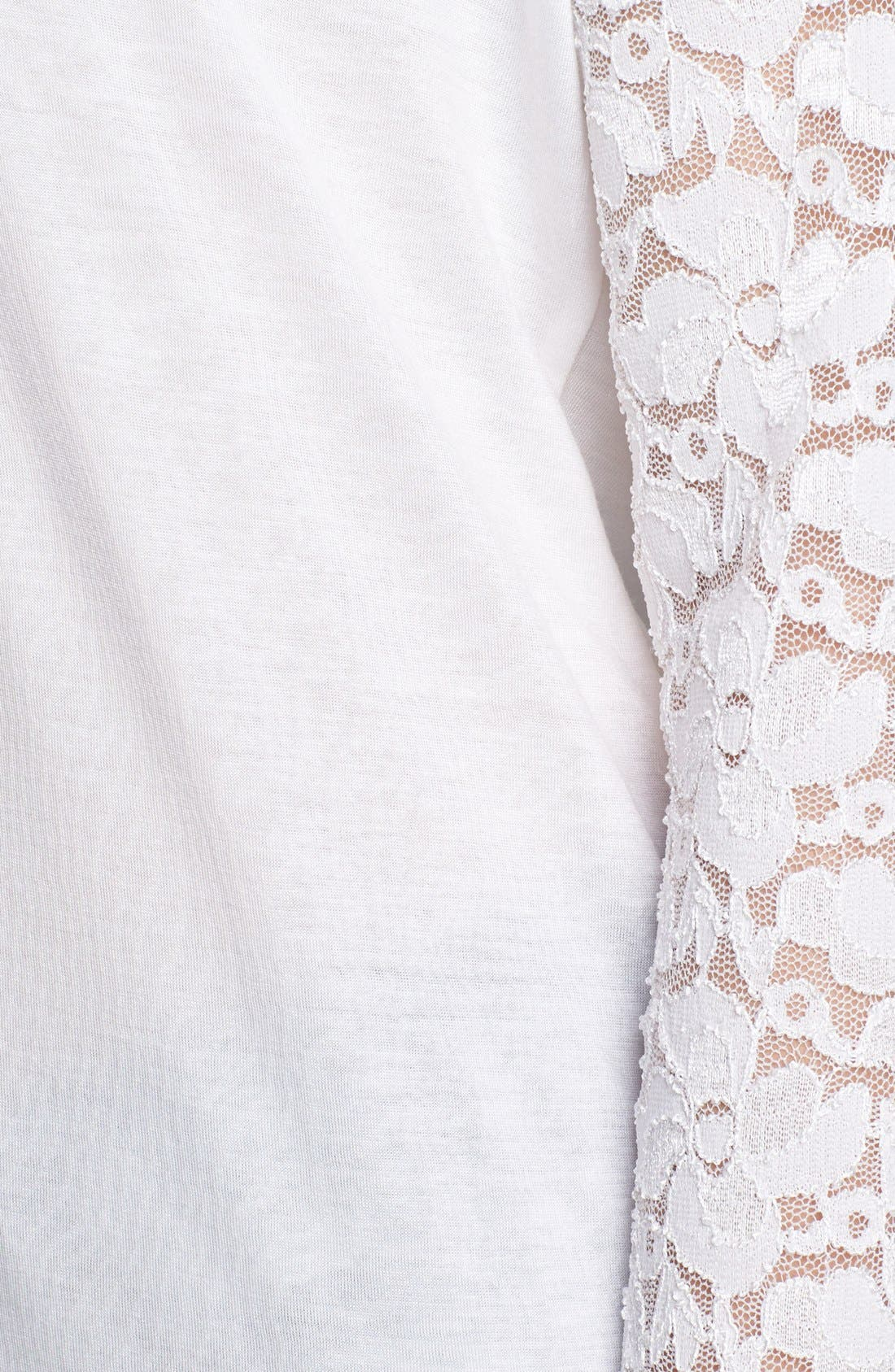 Alternate Image 3  - Max & Mia Drop Shoulder Lace Sleeve Tee
