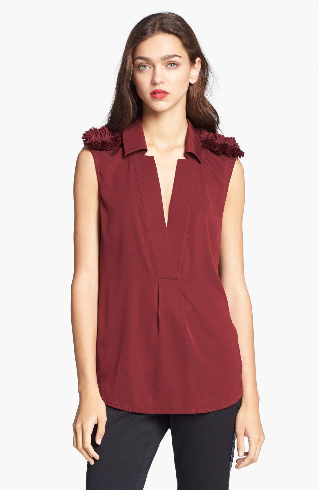 Alternate Image 4  - Rachel Zoe 'Fiona' Ruffled Epaulet Blouse