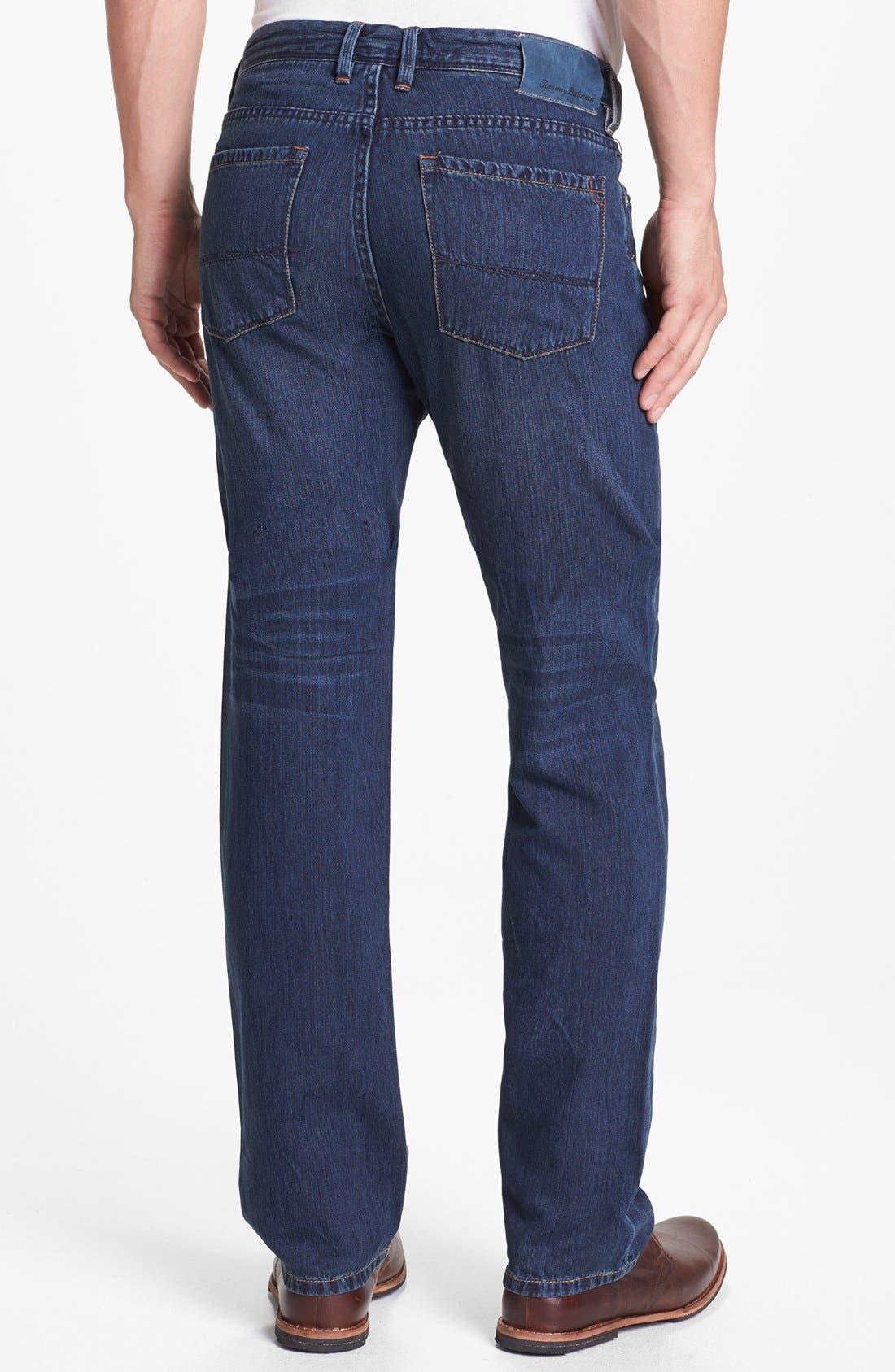 Alternate Image 2  - Tommy Bahama Denim 'Coastal Island' Standard Fit Jeans (Dark Storm)