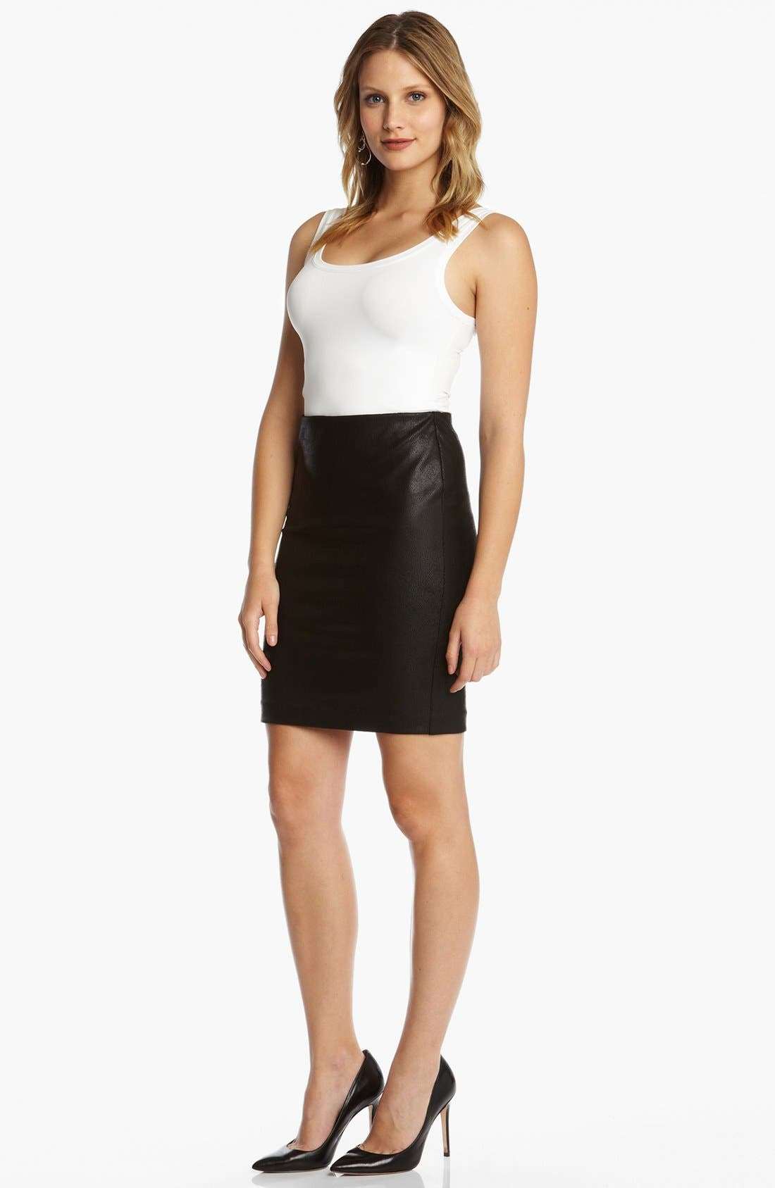Alternate Image 3  - Karen Kane Faux Leather Pencil Skirt