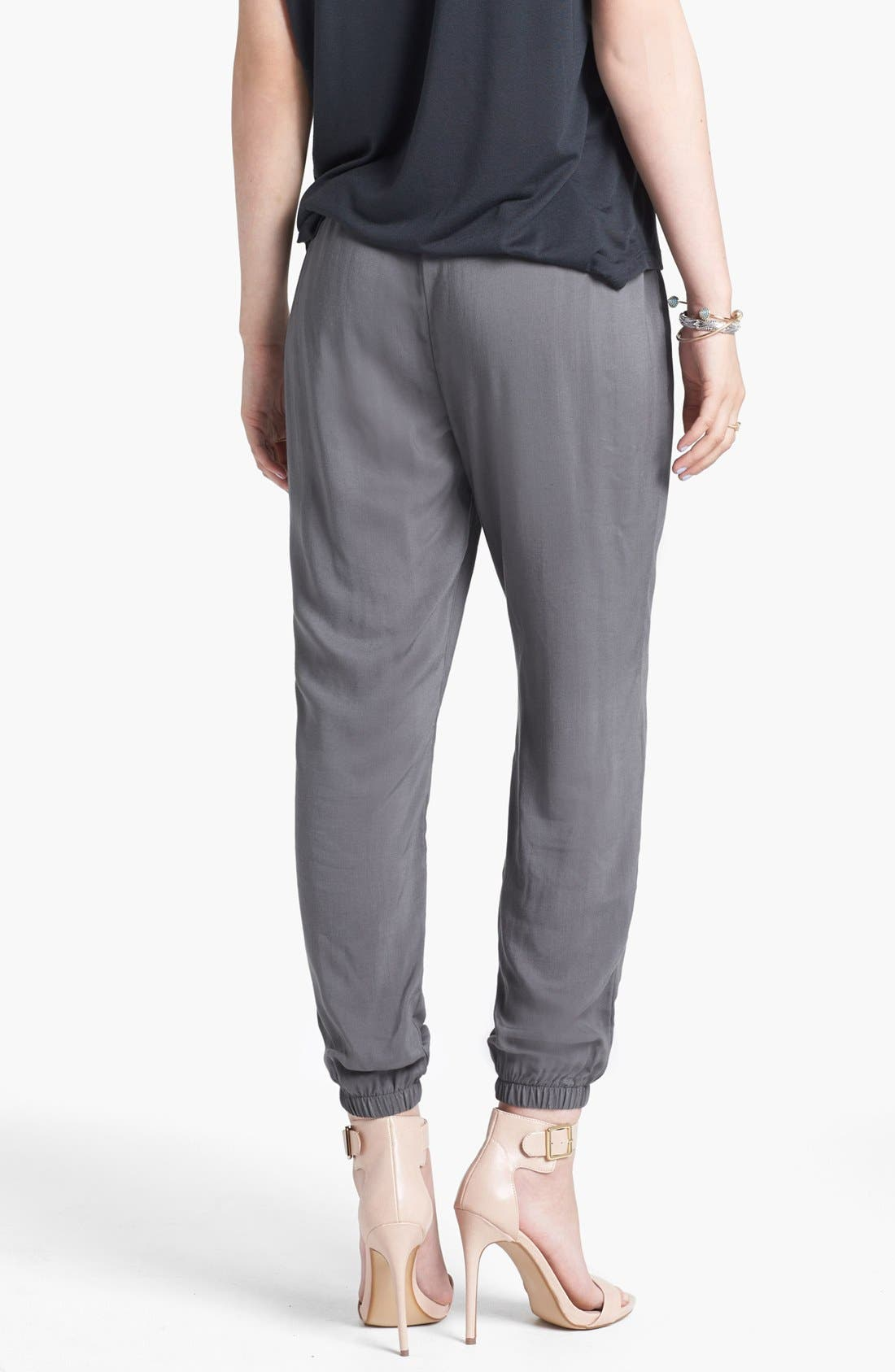 Alternate Image 2  - Lily White Woven Track Pants (Juniors) (Online Only)