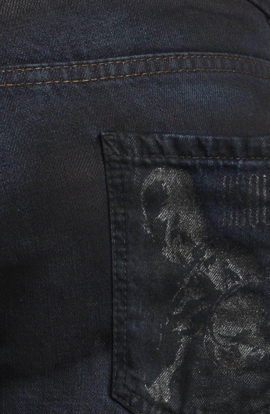 Alternate Image 4  - Dsquared2 Slim Fit Jeans (Blue)