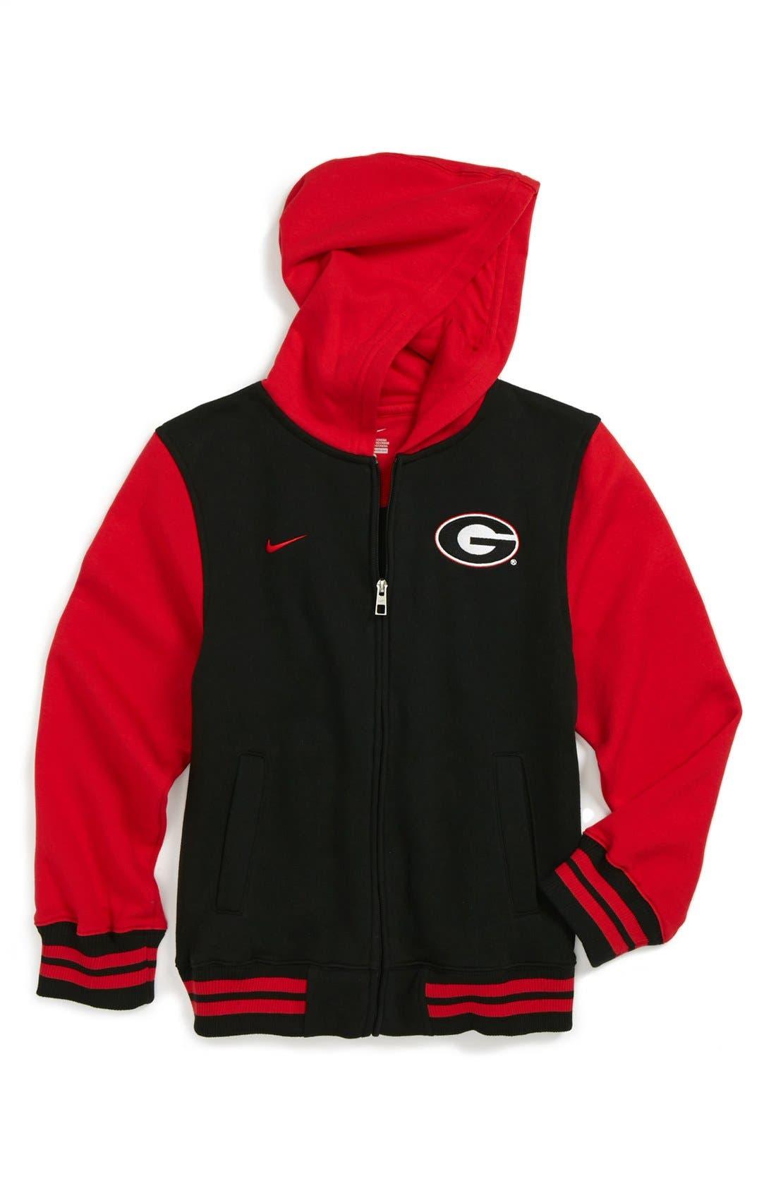 Alternate Image 1 Selected - Nike 'Georgia Bulldogs' Varsity Hoodie (Big Boys)
