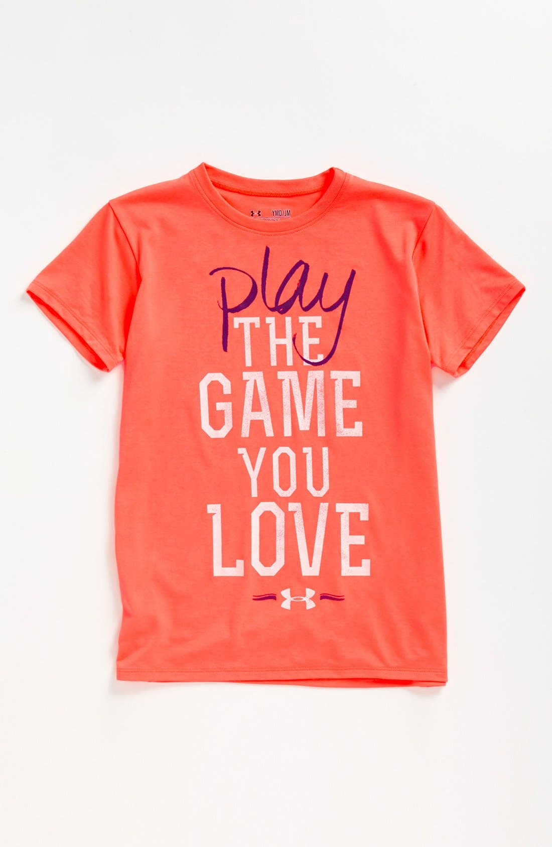 Main Image - Under Armour 'Play the Game' Graphic Tee (Big Girls)