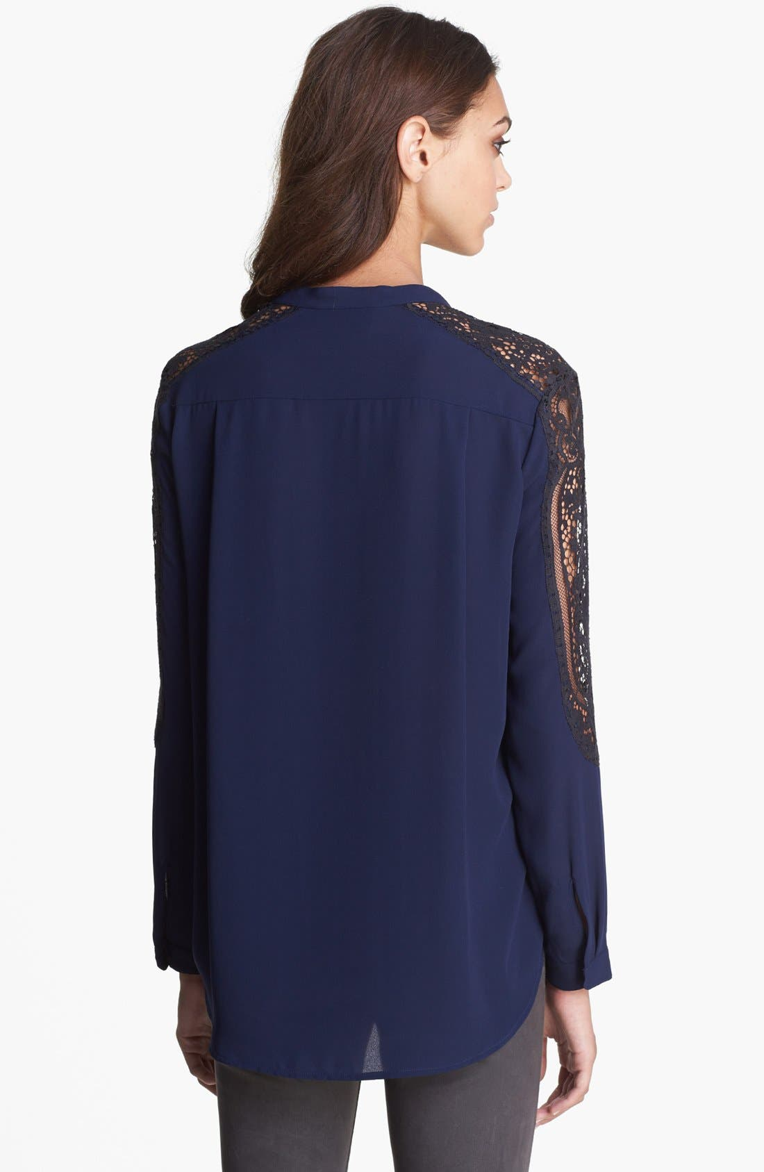 Alternate Image 2  - The Kooples Lace Sleeve Blouse