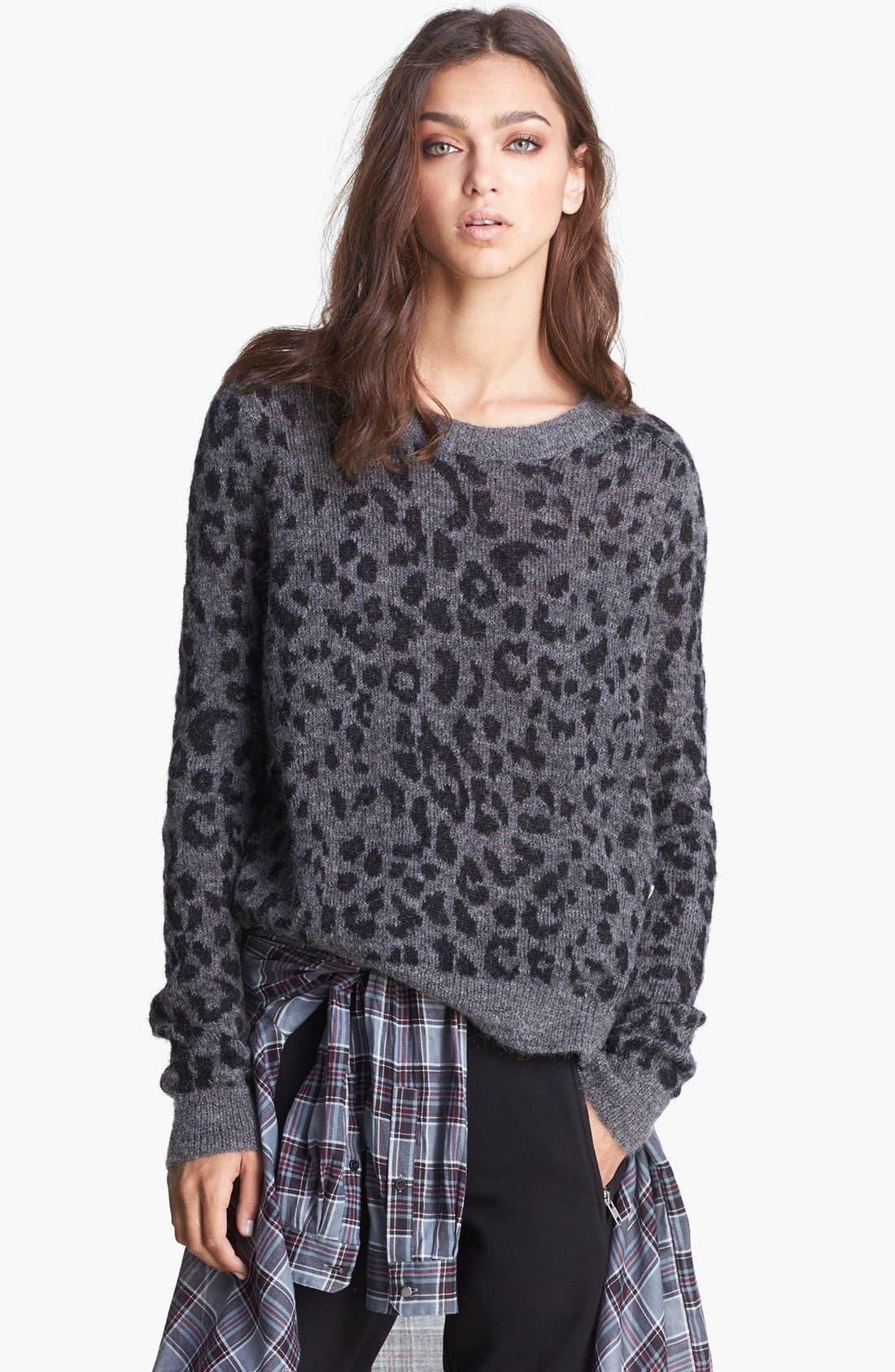 Alternate Image 1 Selected - The Kooples Leopard Pattern Sweater
