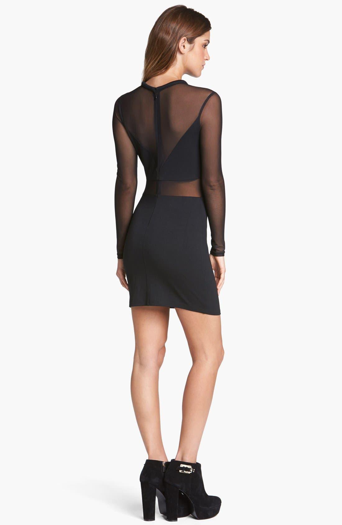 Alternate Image 2  - ASTR Illusion Body-Con Dress