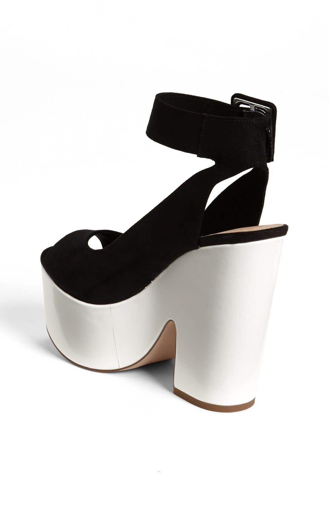 Alternate Image 2  - Topshop 'Star' Ankle Strap Platform Sandal
