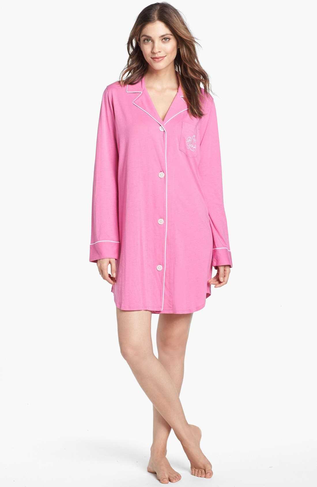 Lauren Ralph Lauren Knit Nightshirt (Online Only)