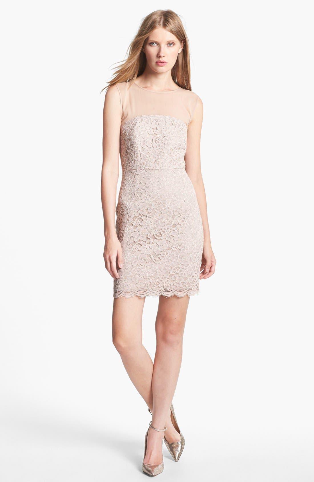 Alternate Image 1 Selected - Diane von Furstenberg 'Nisha' Lace Sheath Dress