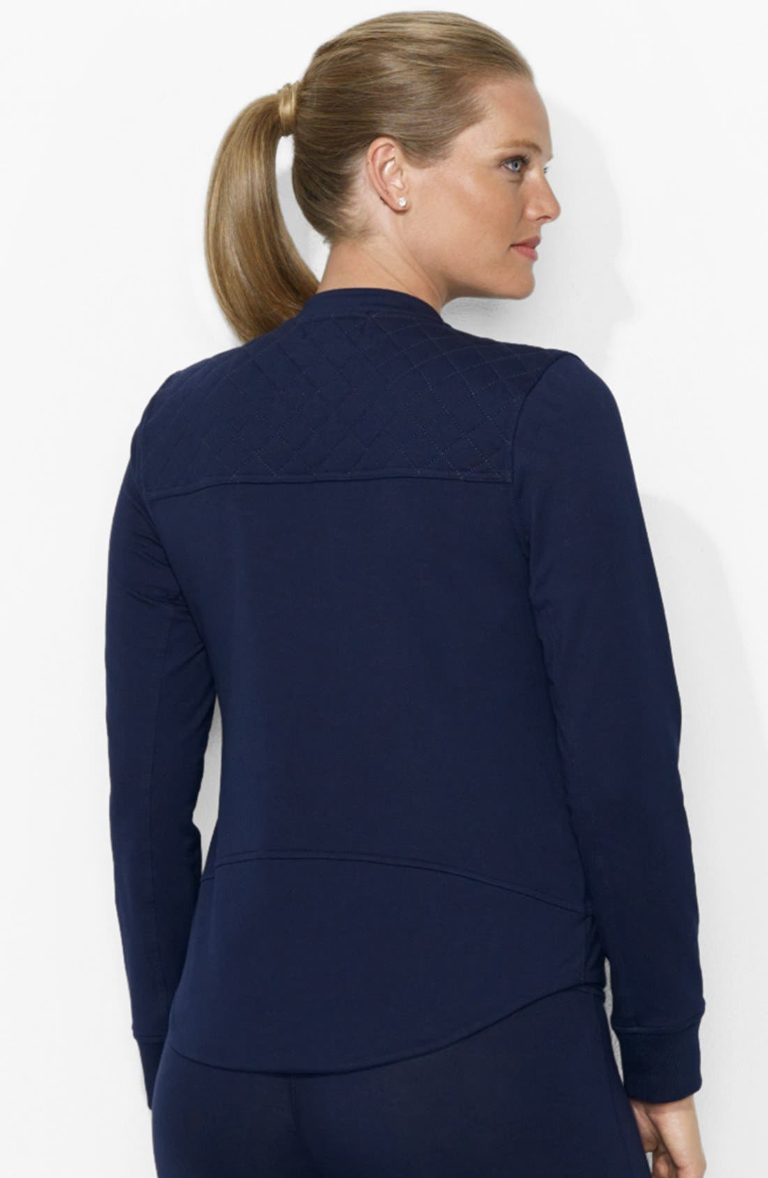 Alternate Image 2  - Lauren Ralph Lauren Track Jacket (Plus Size)