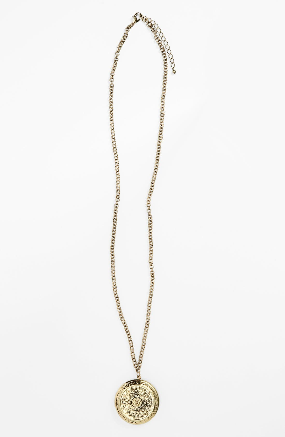 Alternate Image 1 Selected - Stephan & Co. Locket Pendant Necklace (Juniors) (Online Only)