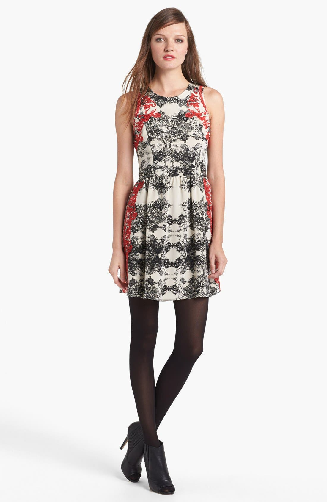 Alternate Image 1 Selected - Parker 'Ancho' Silk Fit & Flare Dress