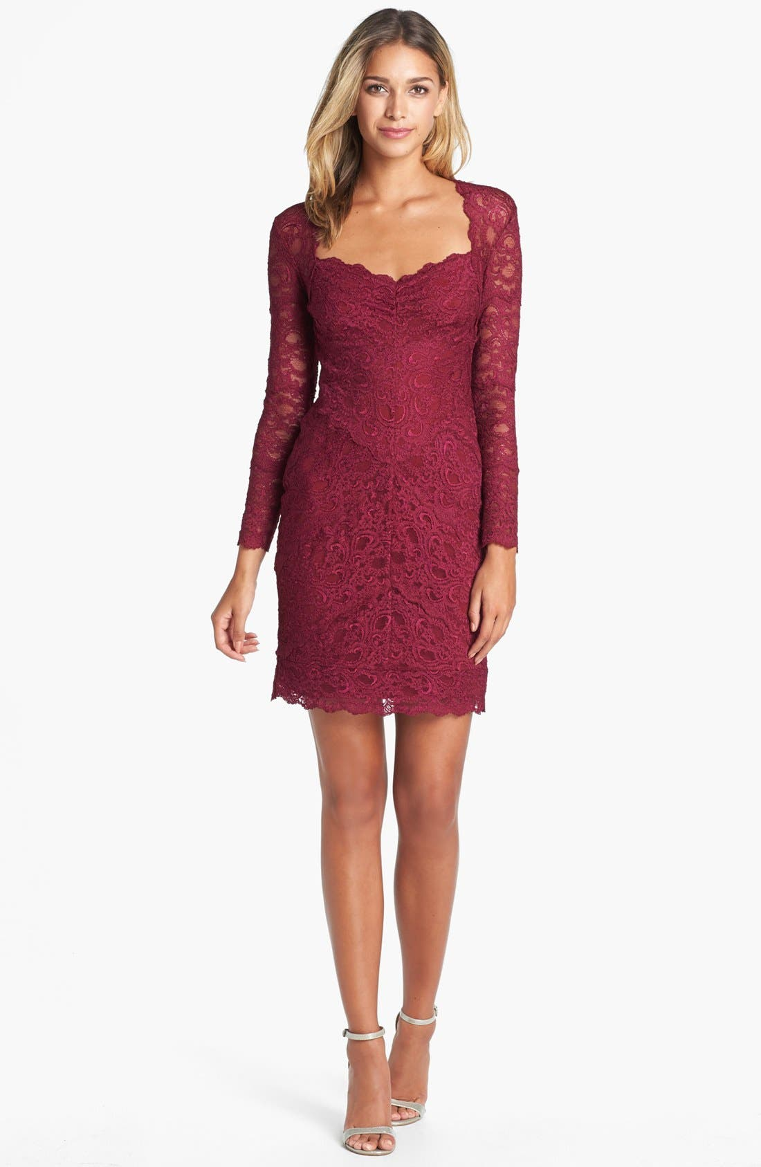 Alternate Image 1 Selected - Nicole Miller Lace Sheath Dress