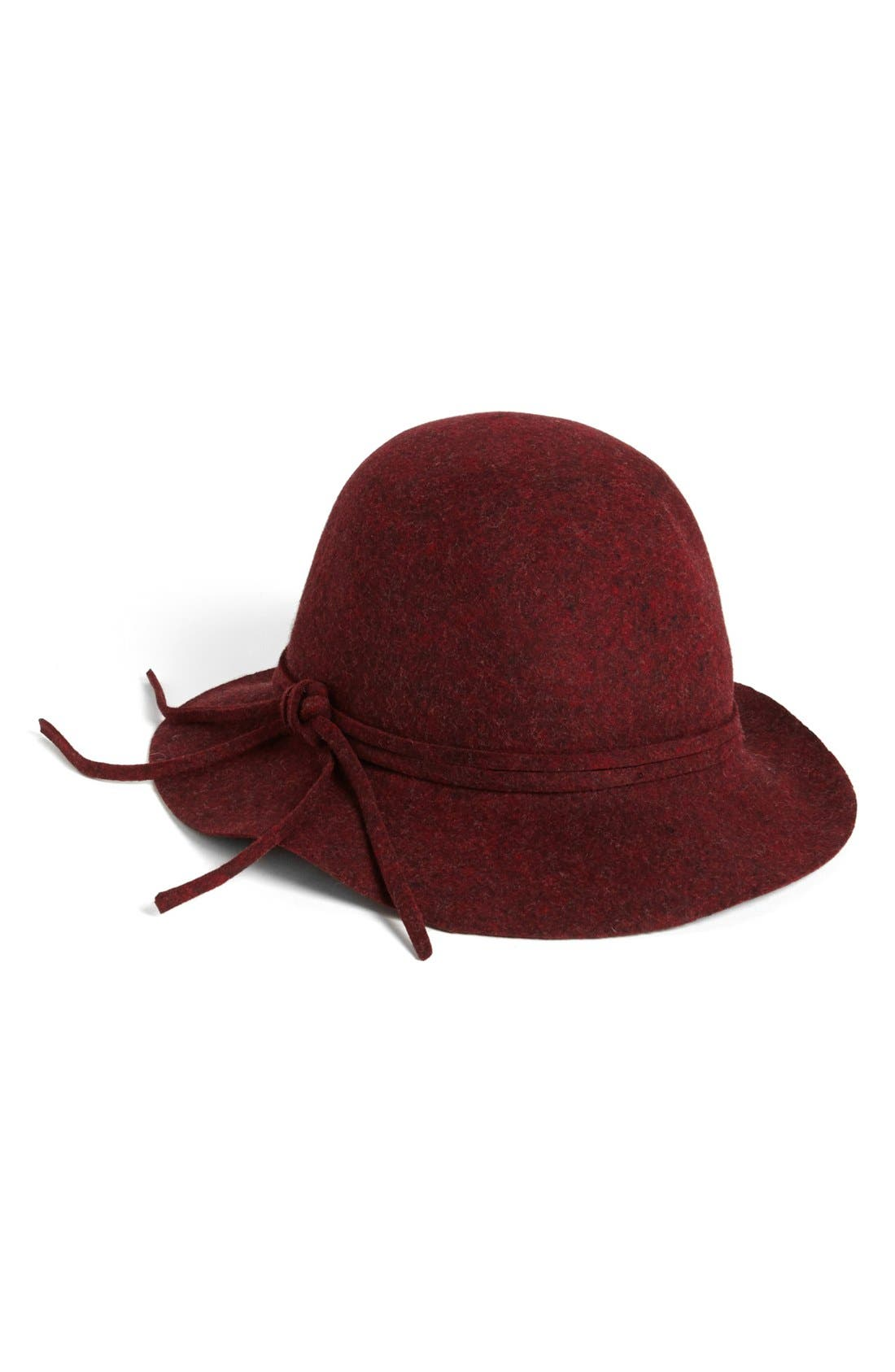 Felt Hat,                         Main,                         color, Wine