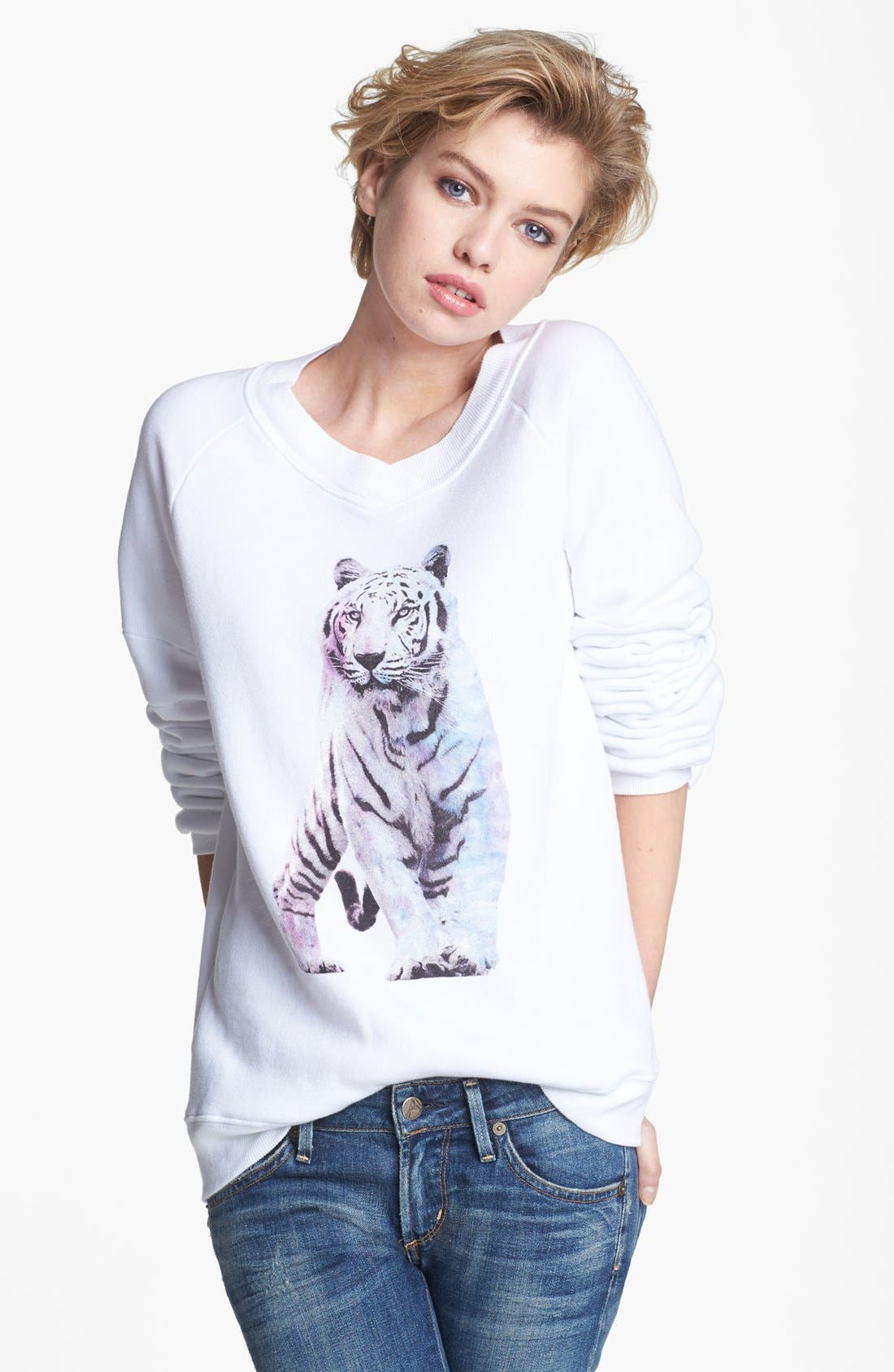 Alternate Image 1 Selected - Wildfox 'Shine Bright Tiger' Sweatshirt