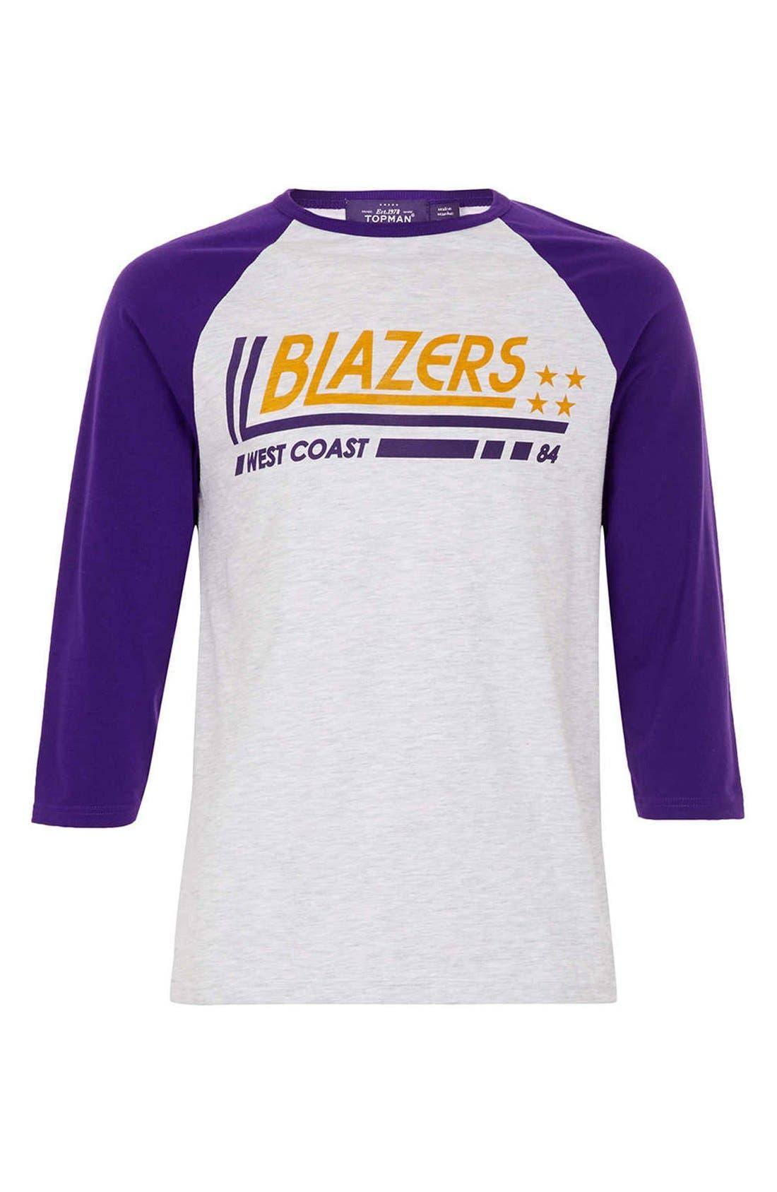 Alternate Image 1 Selected - Topman Blazers Baseball T-Shirt