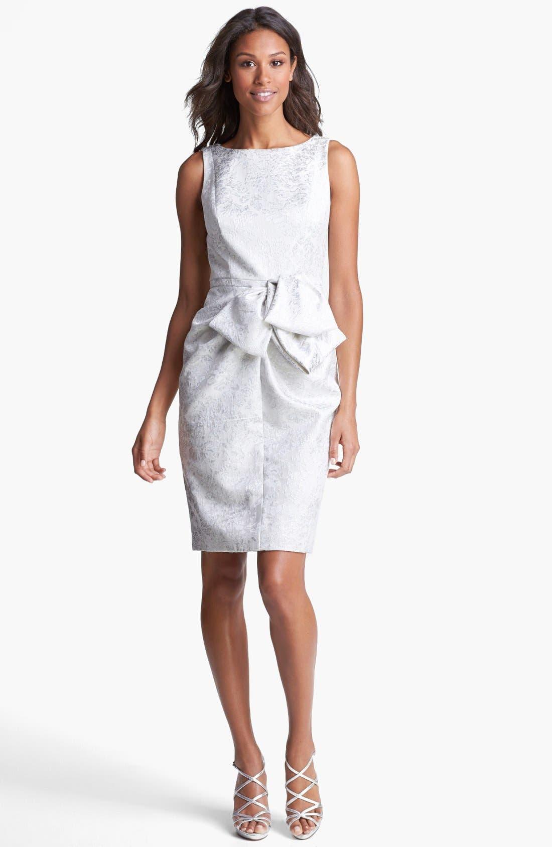 Alternate Image 1 Selected - Carmen Marc Valvo Brocade Sheath Dress