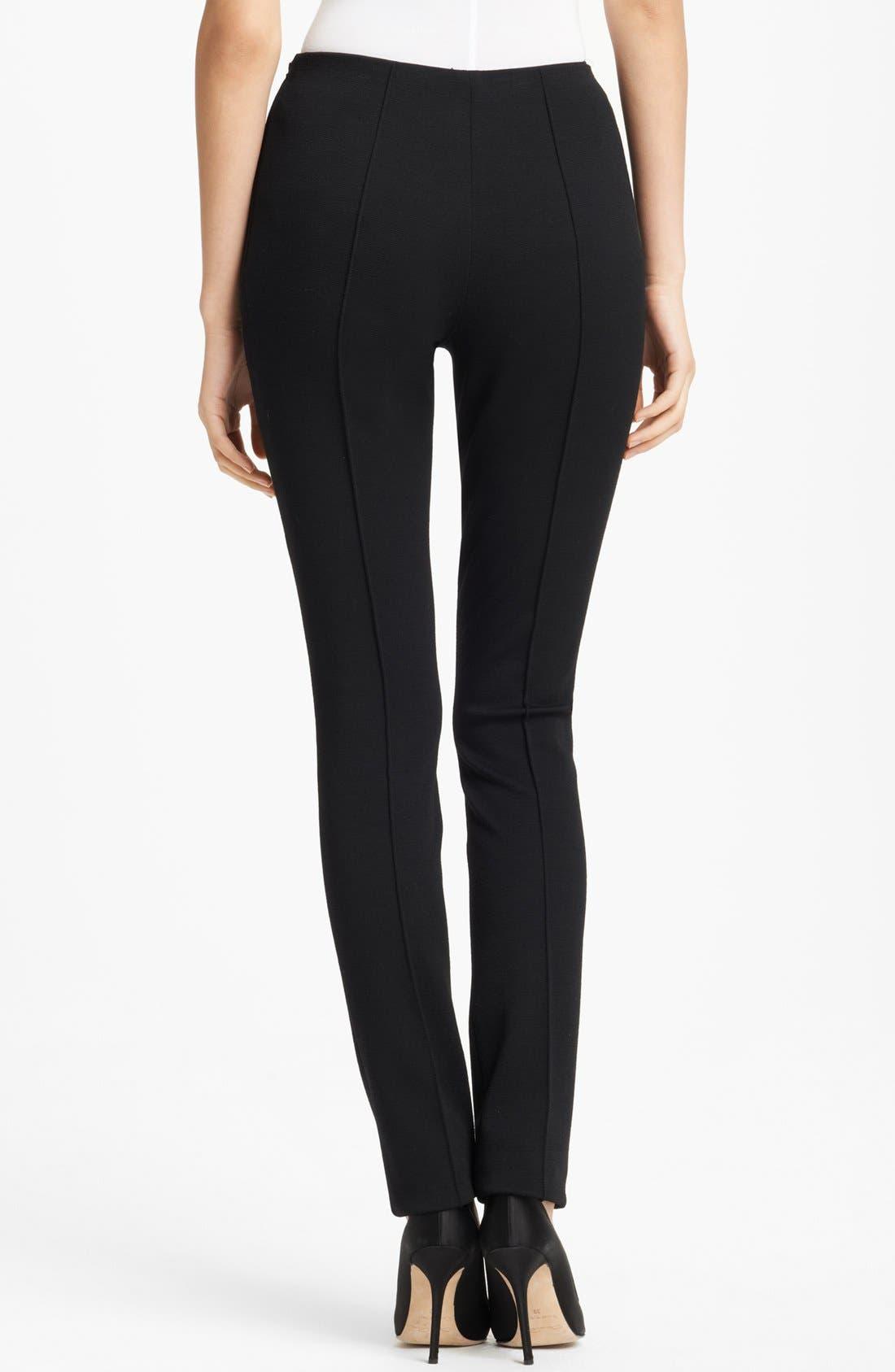 Alternate Image 2  - Oscar de la Renta Skinny Stretch Jersey Pants
