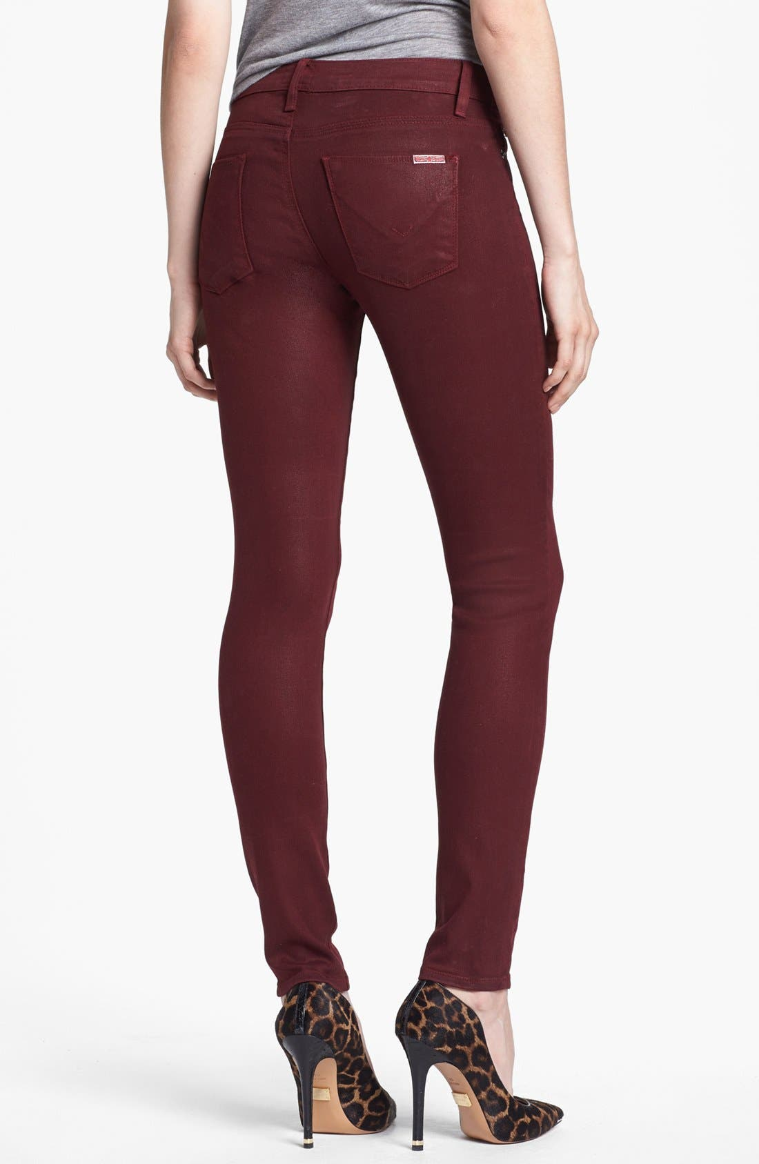 Alternate Image 2  - Hudson Jeans 'Krista' Super Skinny Jeans (Crimson Wax)