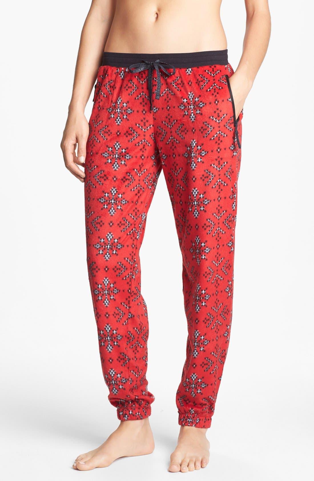 Alternate Image 1 Selected - kensie 'Chilled Out' Fleece Ski Pajama Pants