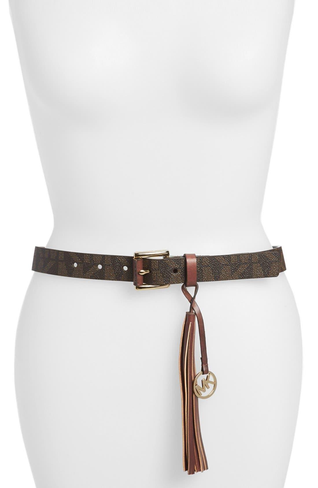 Alternate Image 1 Selected - MICHAEL Michael Kors Roller Buckle Logo Belt