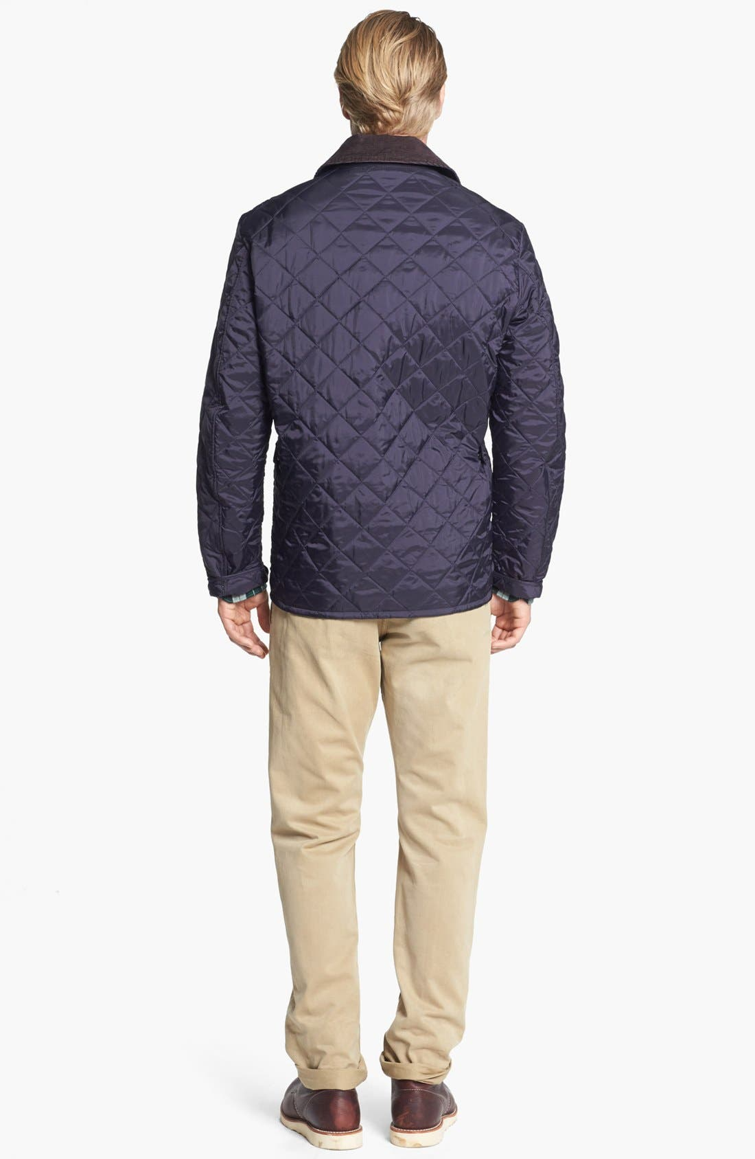 'Tinford' Regular Fit Quilted Jacket,                             Alternate thumbnail 4, color,                             Navy
