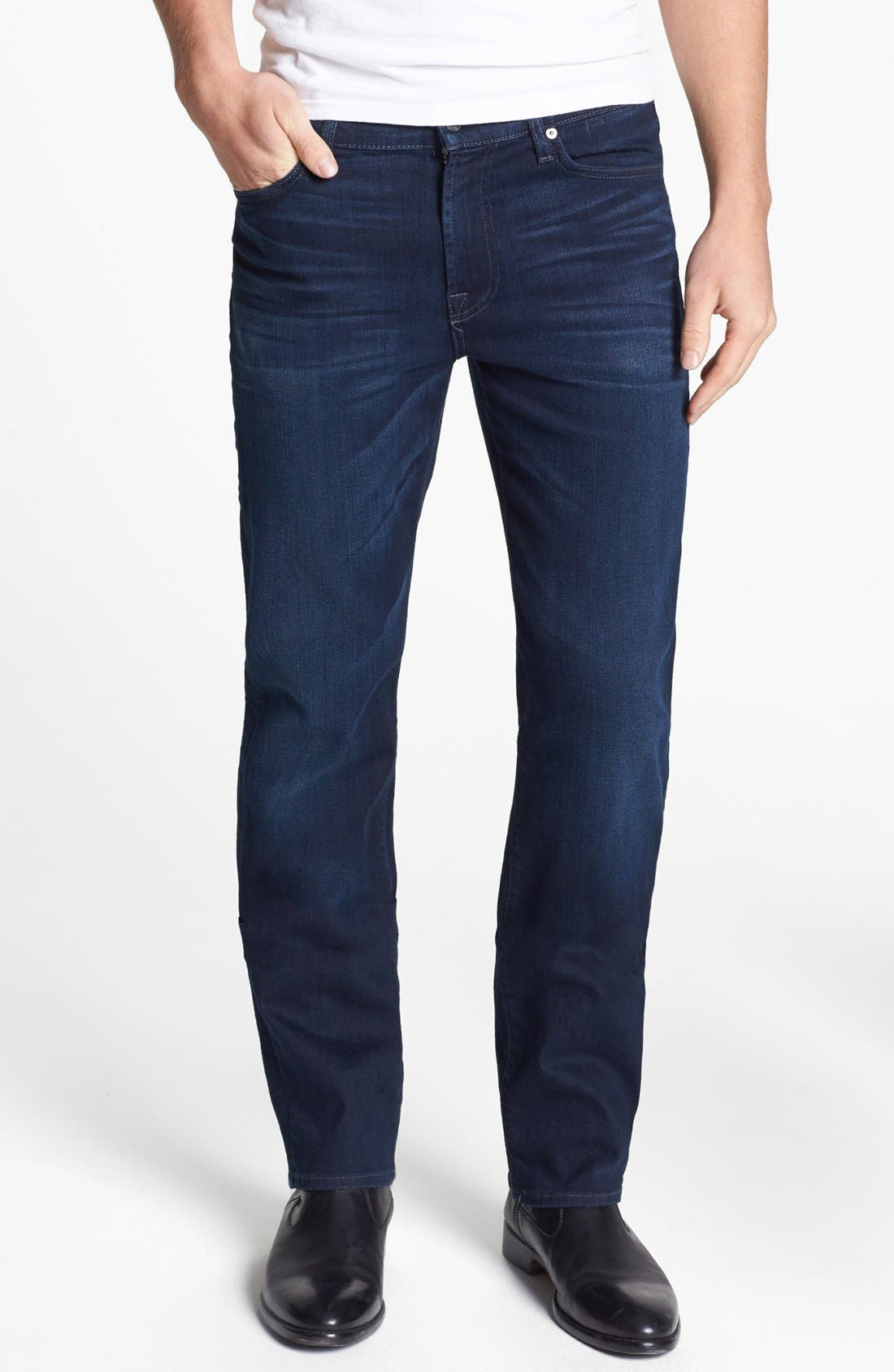 Alternate Image 1 Selected - 7 For All Mankind® 'Slimmy - Luxe Performance' Slim Fit Jeans (Blue Ice)