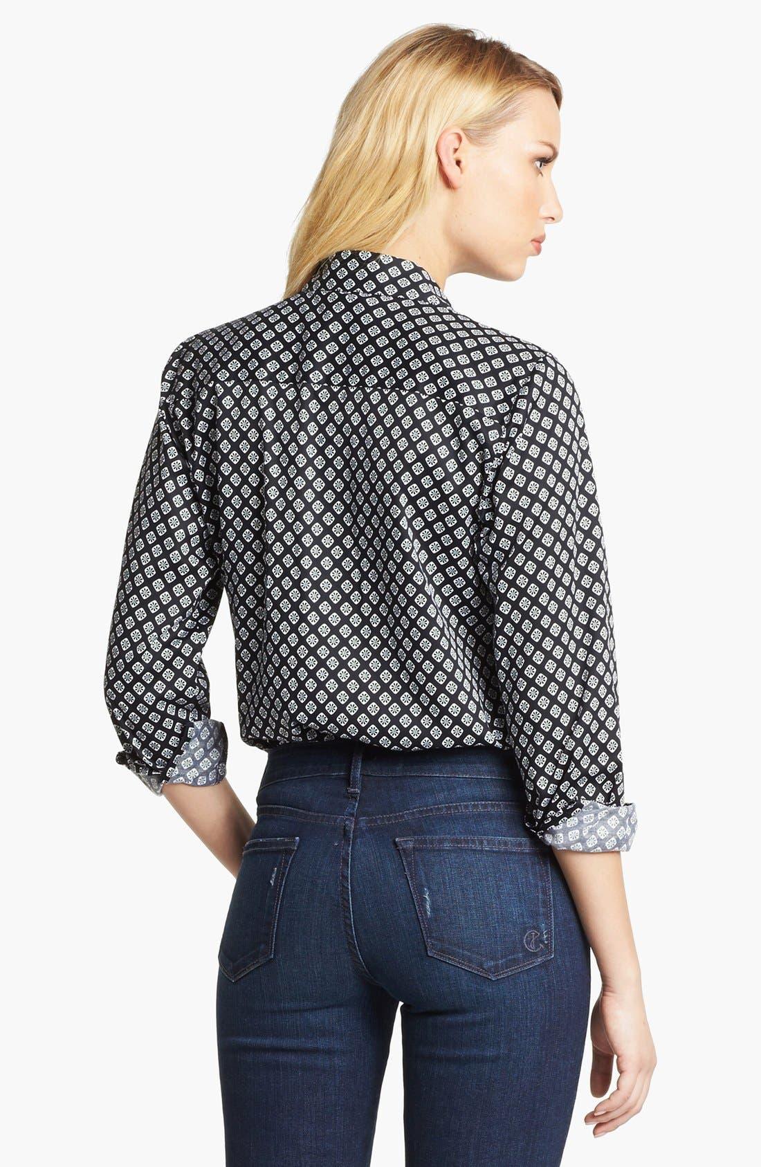 Alternate Image 2  - Foxcroft Foulard Print Shirt (Petite)