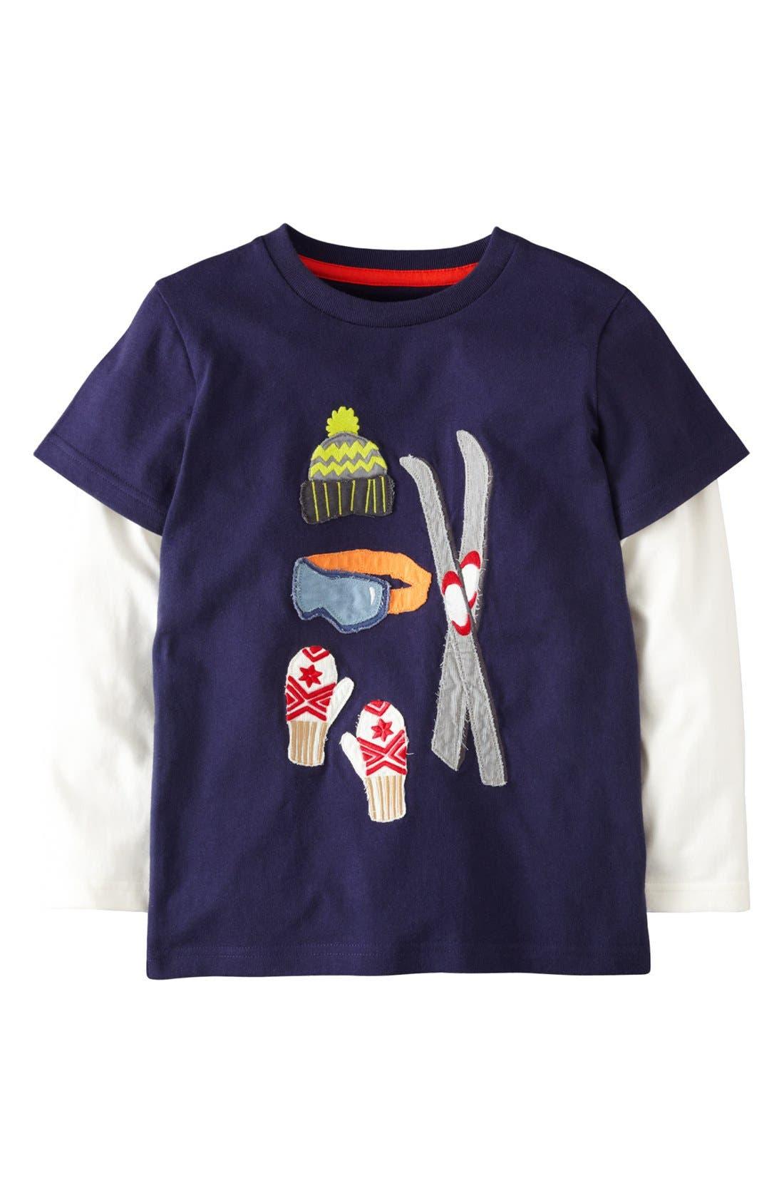Main Image - Mini Boden 'Doing Stuff' Long Sleeve T-Shirt (Toddler Boys)