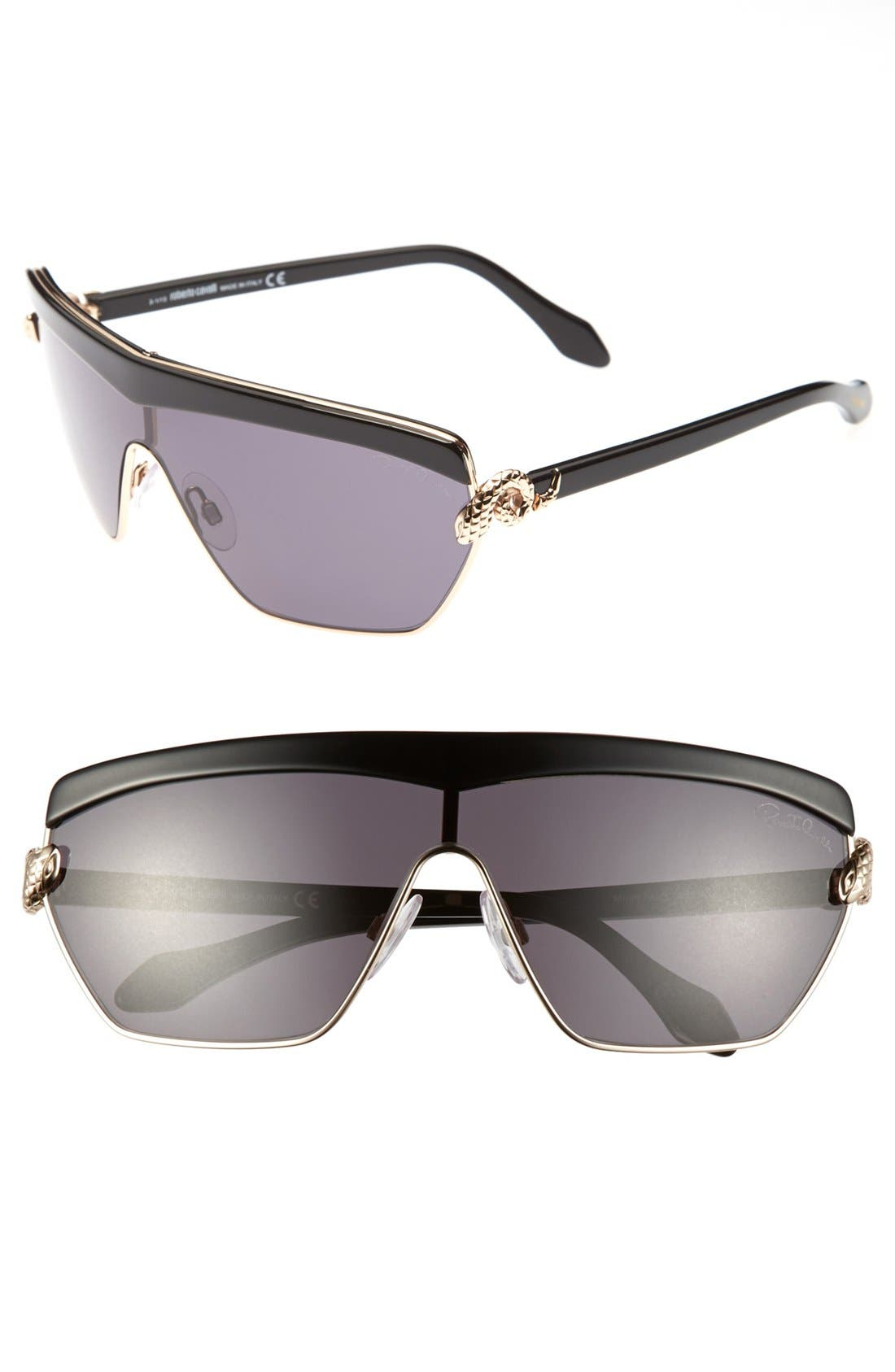 Main Image - Roberto Cavalli 'Mirihi' 139mm Shield Sunglasses