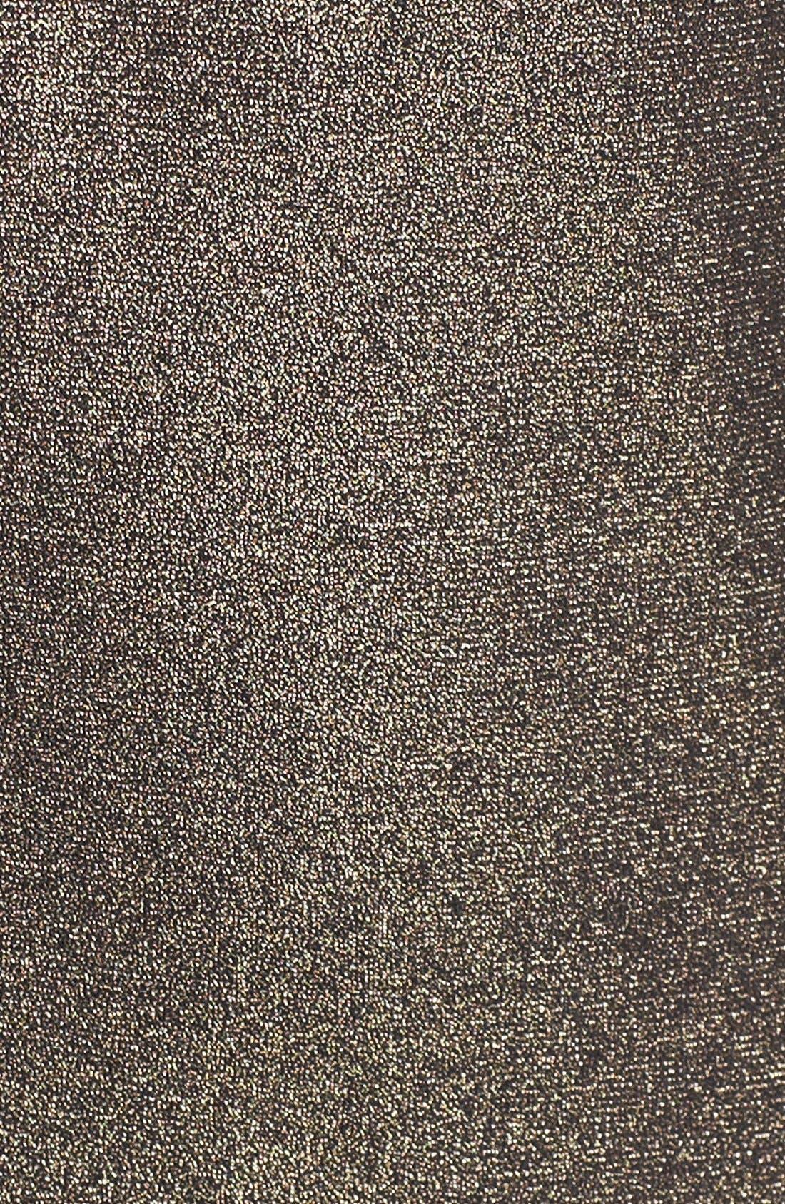 Alternate Image 3  - Ellen Tracy Side Knot Metallic Jersey Sheath Dress