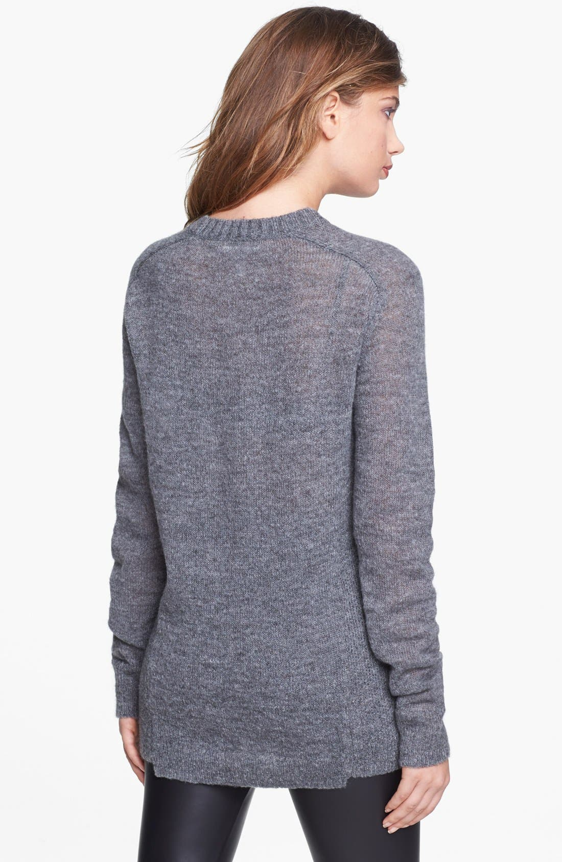 Alternate Image 2  - Leith Heathered Uneven Hem Pullover