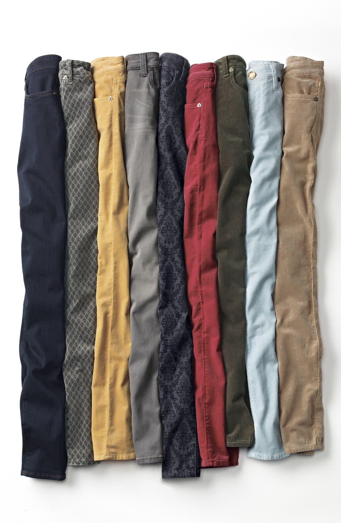 Alternate Image 4  - KUT from the Kloth Print Skinny Jeans (Black Brocade Print)