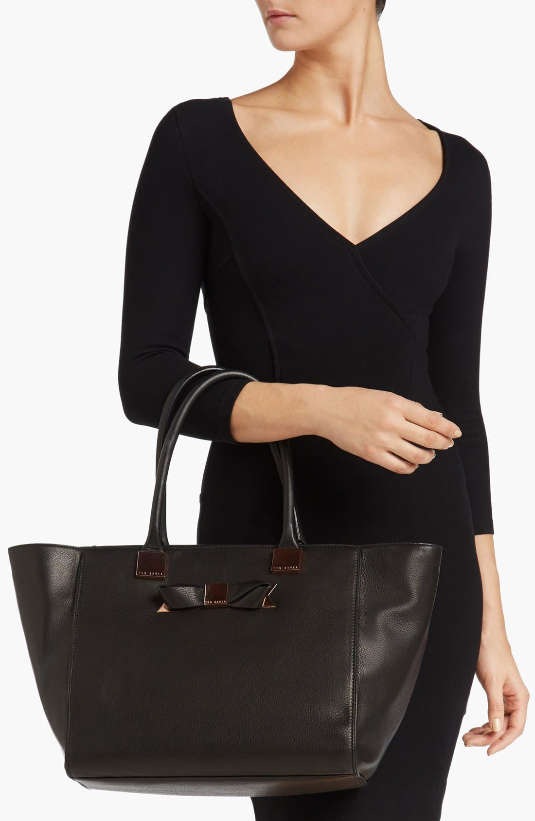 Alternate Image 2  - Ted Baker London Metal Bow Shopper