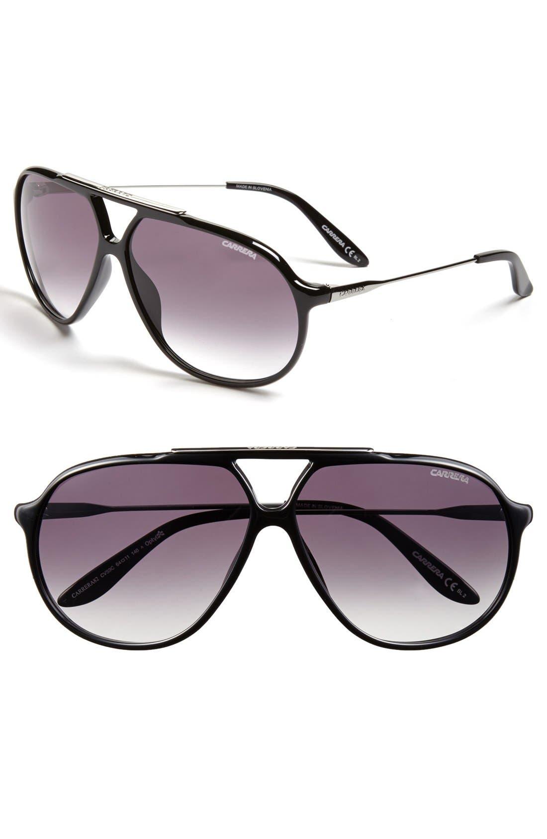 Main Image - Carrera Eyewear 64mm Aviator Sunglasses