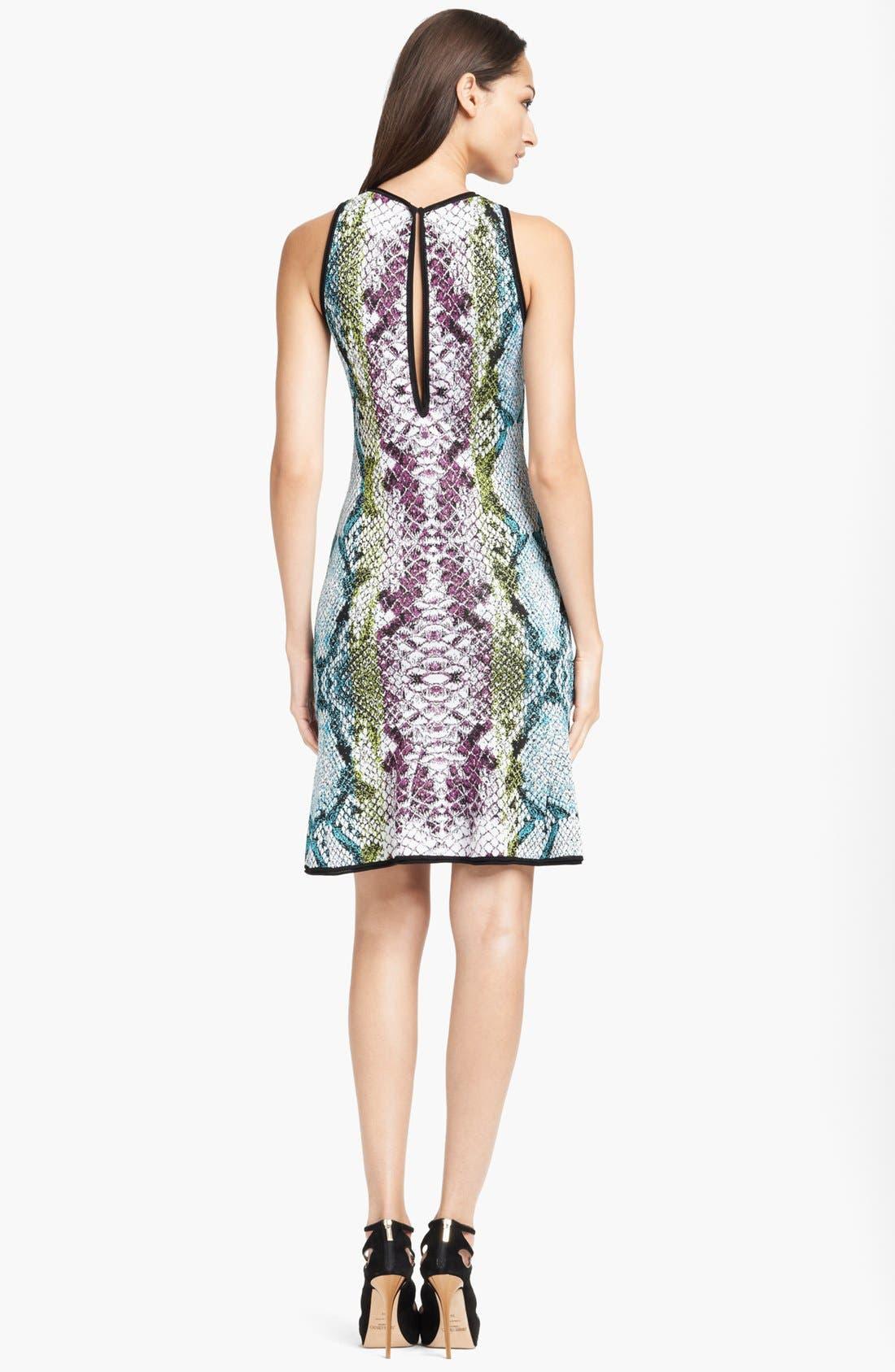 Alternate Image 2  - Roberto Cavalli Snake Jacquard Flounce Hem Dress
