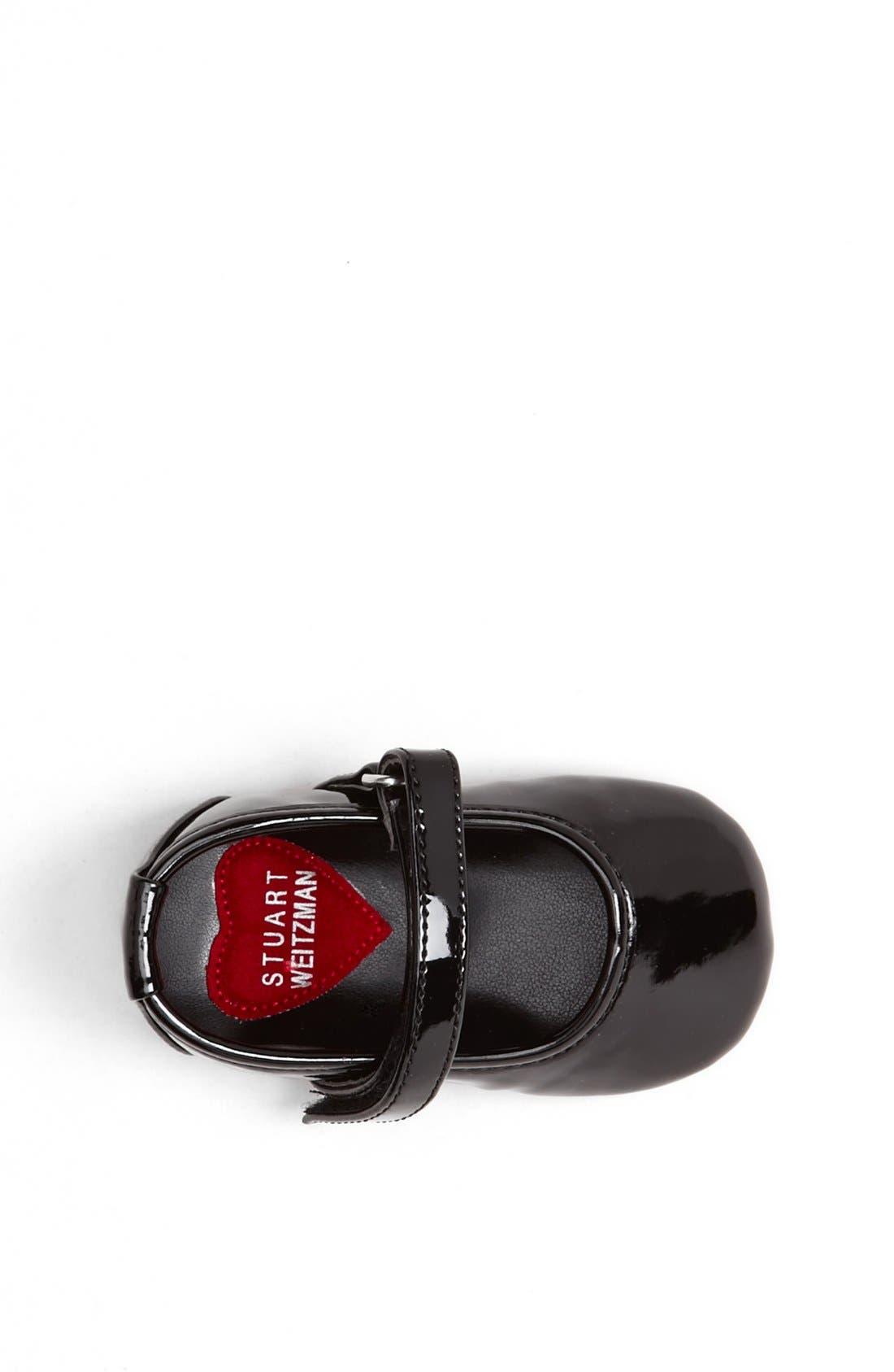 Alternate Image 3  - Stuart Weitzman 'Baby Caviar' Patent Crib Shoe (Baby)