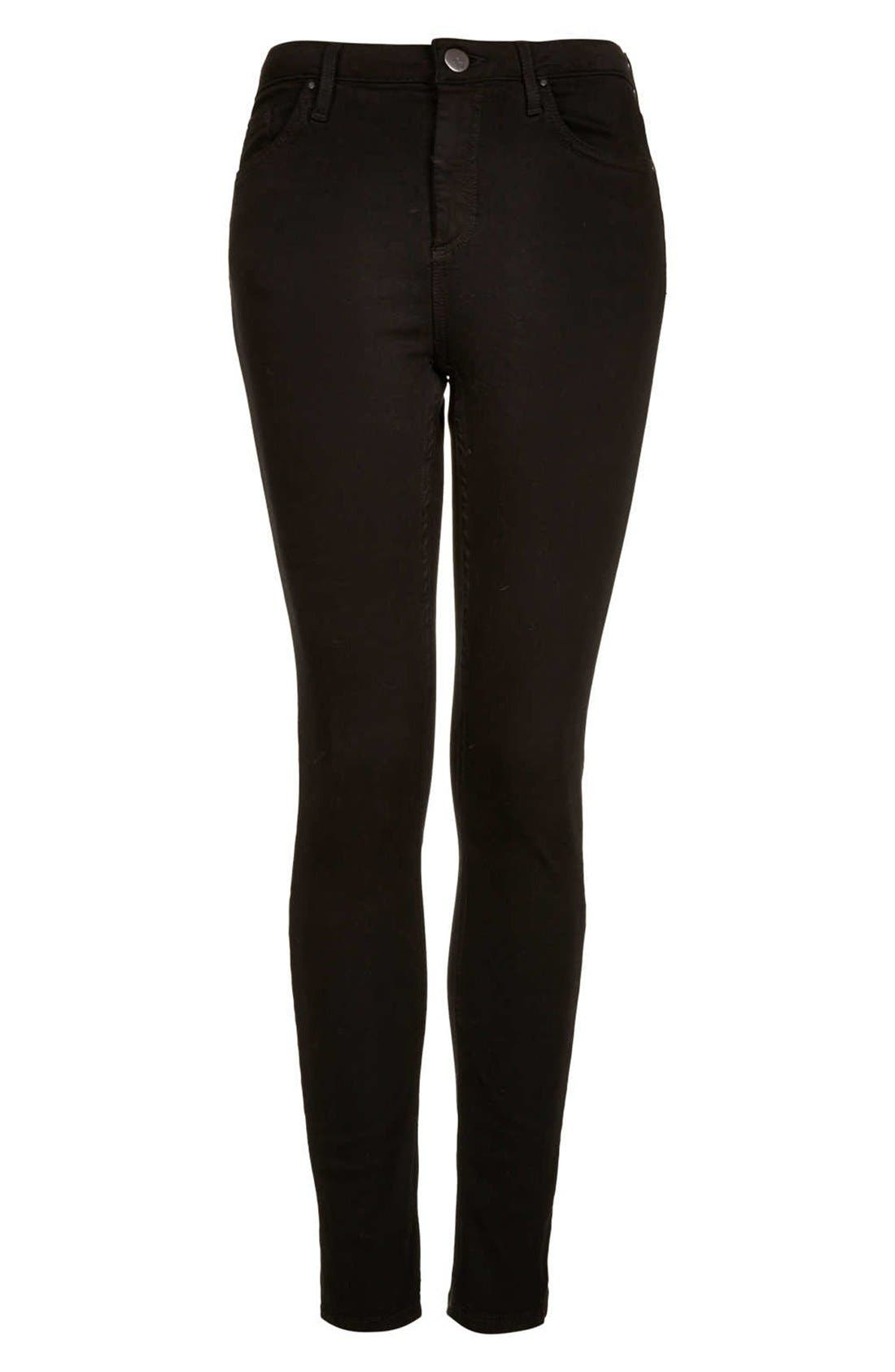 Alternate Image 4  - Topshop Moto 'Jamie' High Rise Skinny Jeans (Regular, Short & Long)